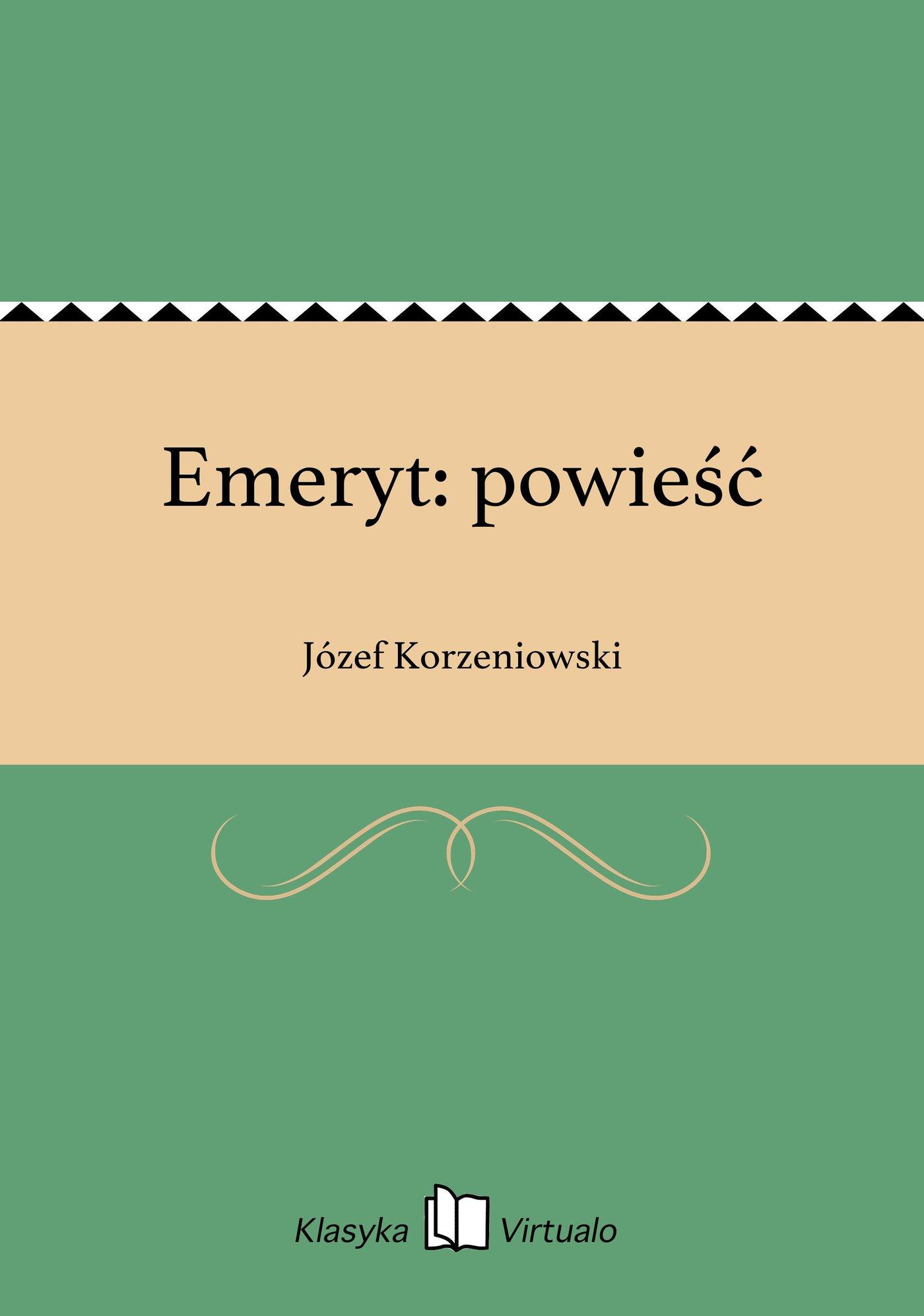 Emeryt: powieść - Ebook (Książka EPUB) do pobrania w formacie EPUB