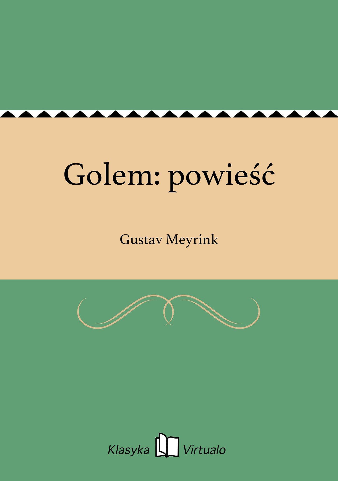 Golem: powieść - Ebook (Książka EPUB) do pobrania w formacie EPUB