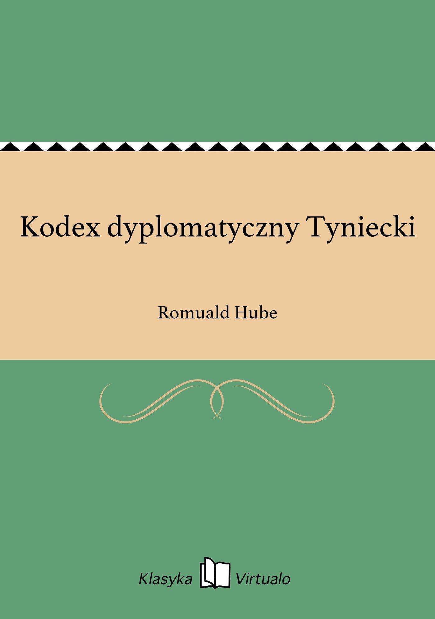 Kodex dyplomatyczny Tyniecki - Ebook (Książka EPUB) do pobrania w formacie EPUB