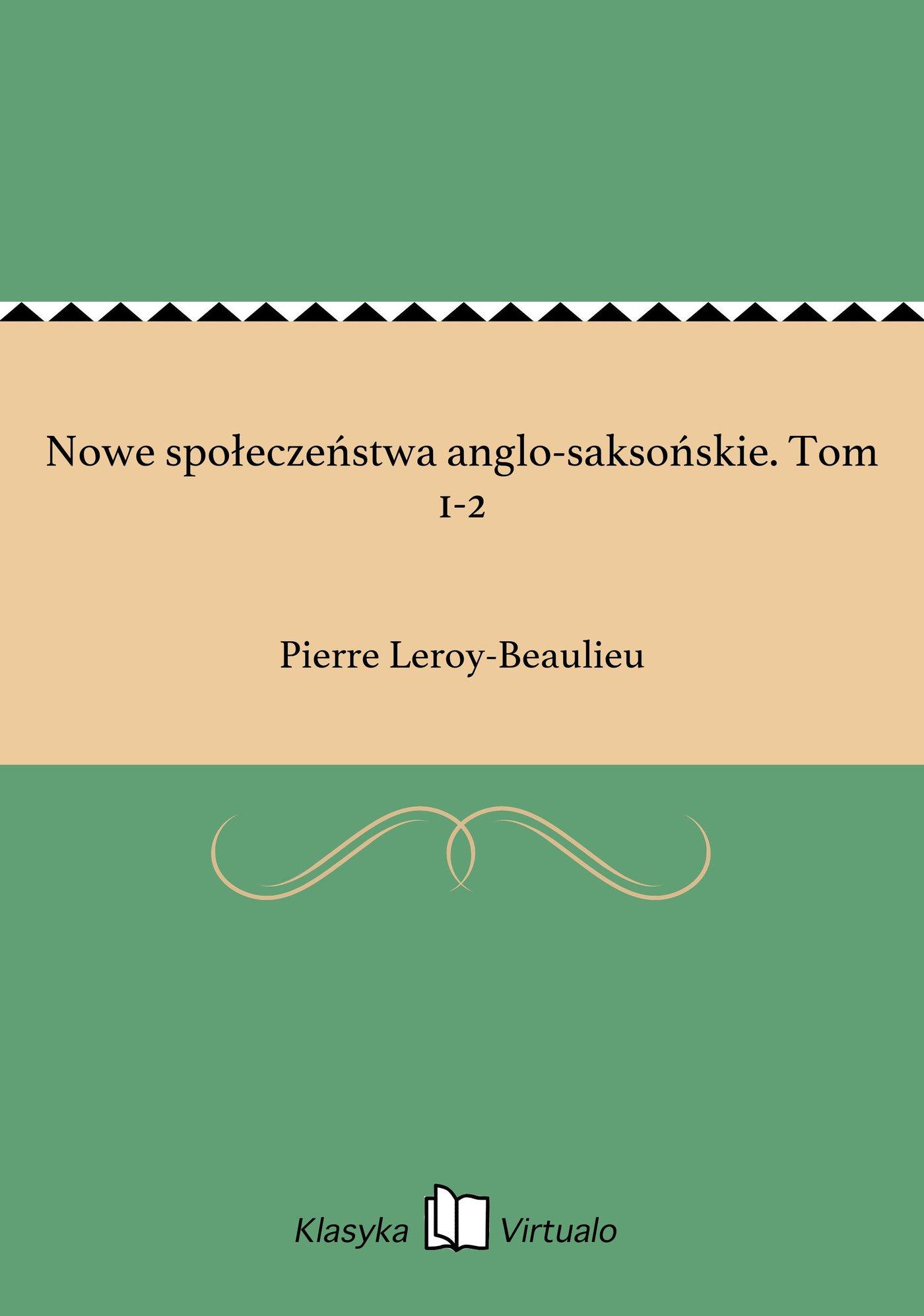 Nowe społeczeństwa anglo-saksońskie. Tom 1-2 - Ebook (Książka EPUB) do pobrania w formacie EPUB