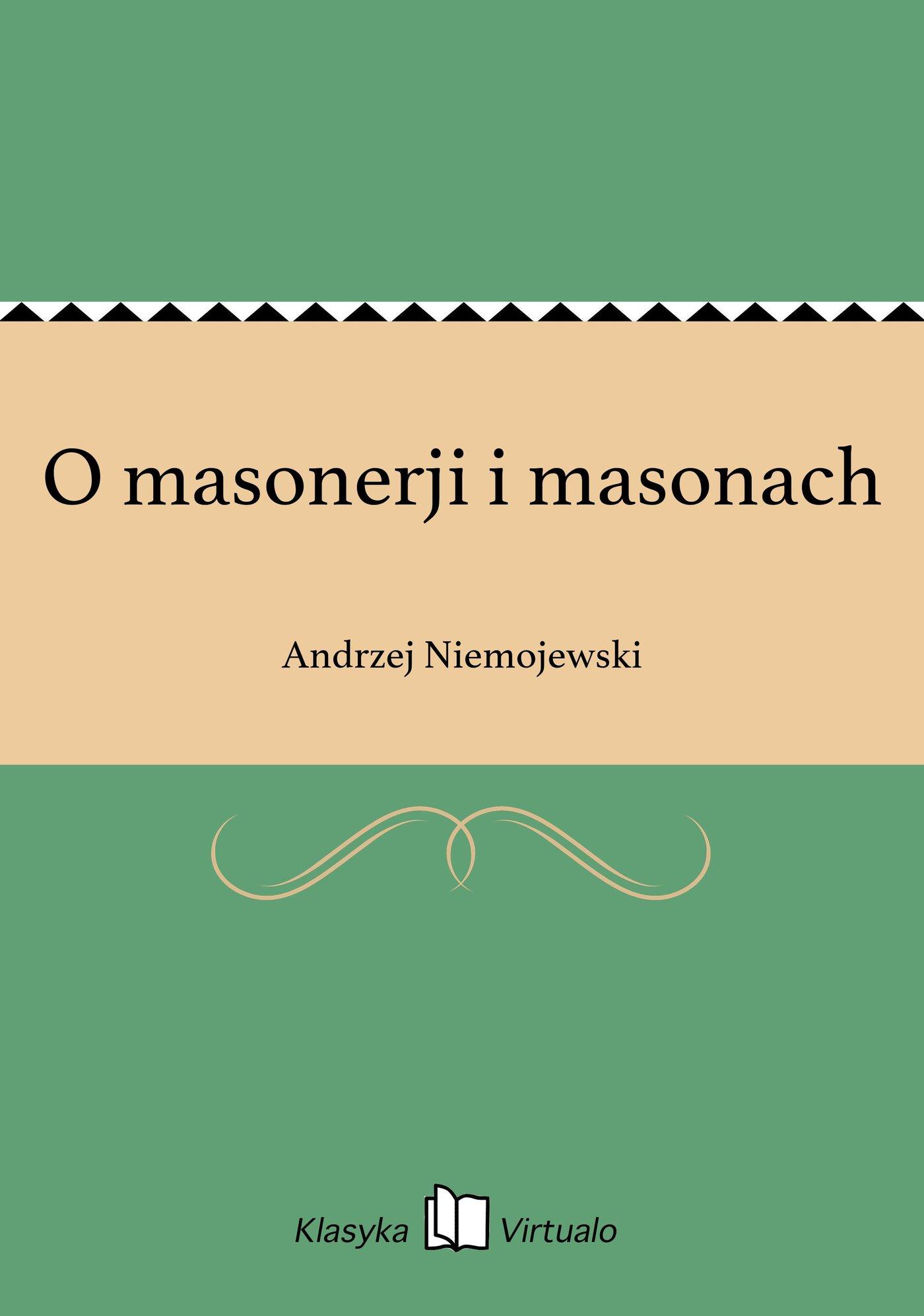 O masonerji i masonach - Ebook (Książka EPUB) do pobrania w formacie EPUB
