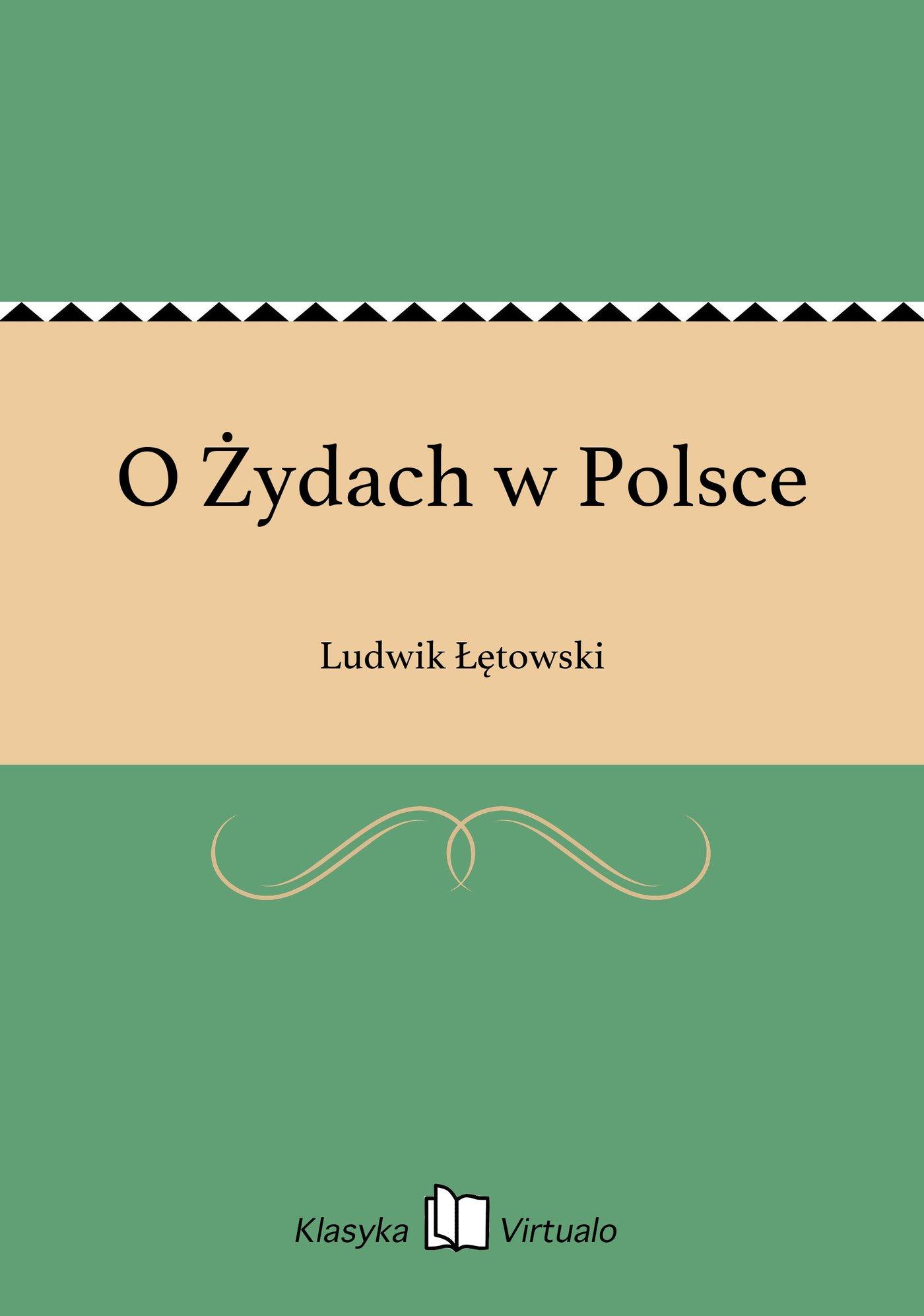 O Żydach w Polsce - Ebook (Książka EPUB) do pobrania w formacie EPUB