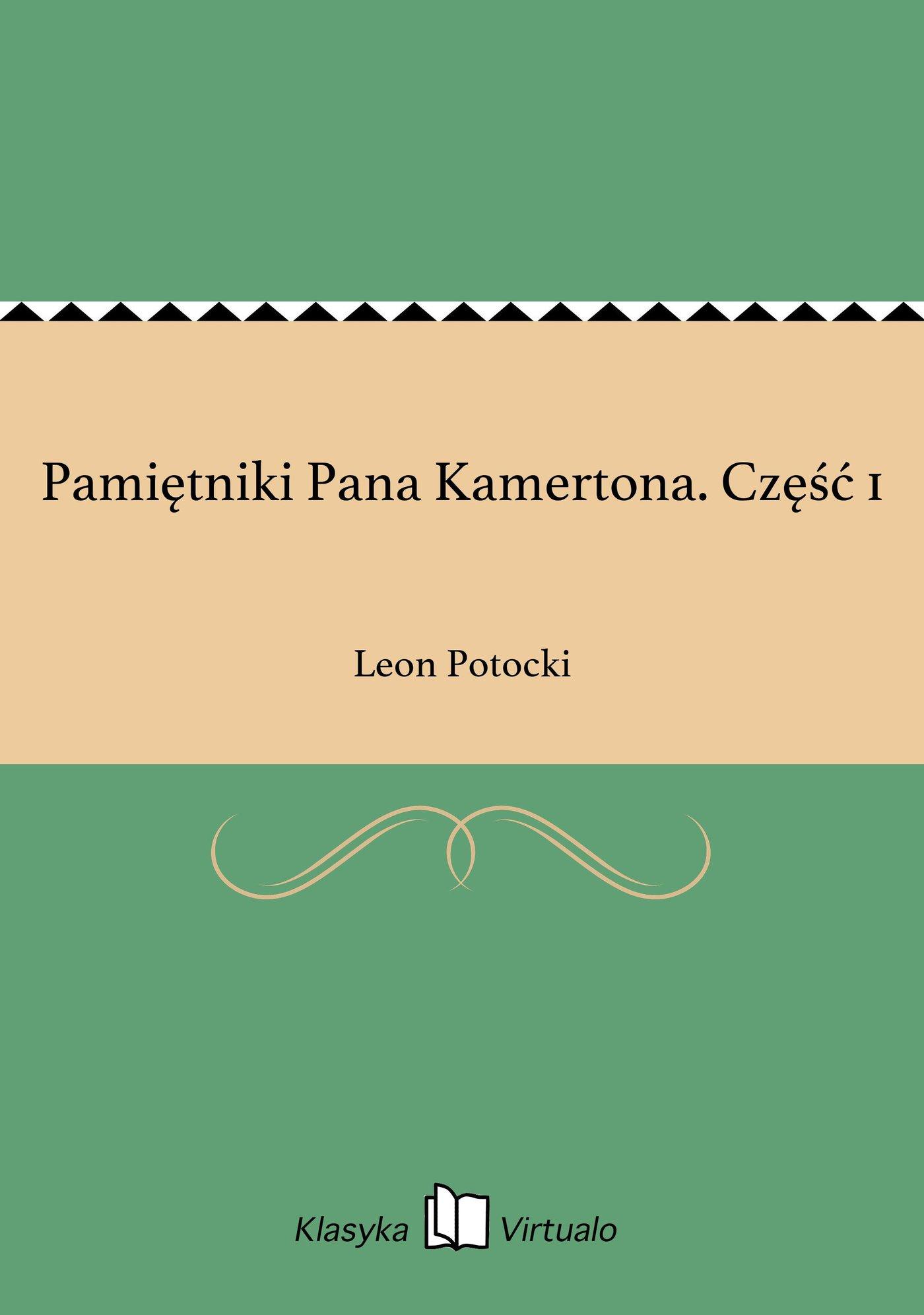 Pamiętniki Pana Kamertona. Część 1 - Ebook (Książka EPUB) do pobrania w formacie EPUB