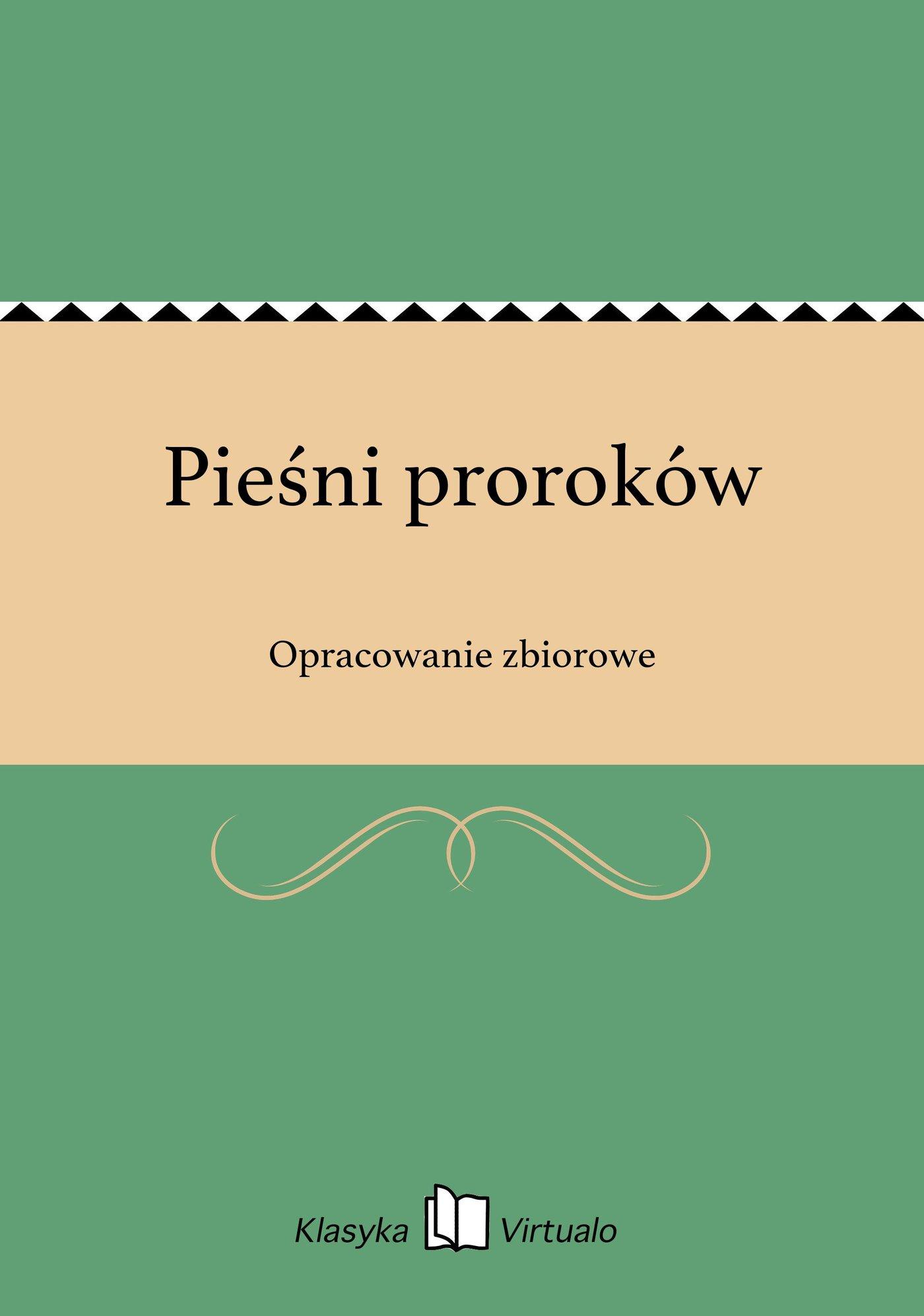 Pieśni proroków - Ebook (Książka EPUB) do pobrania w formacie EPUB