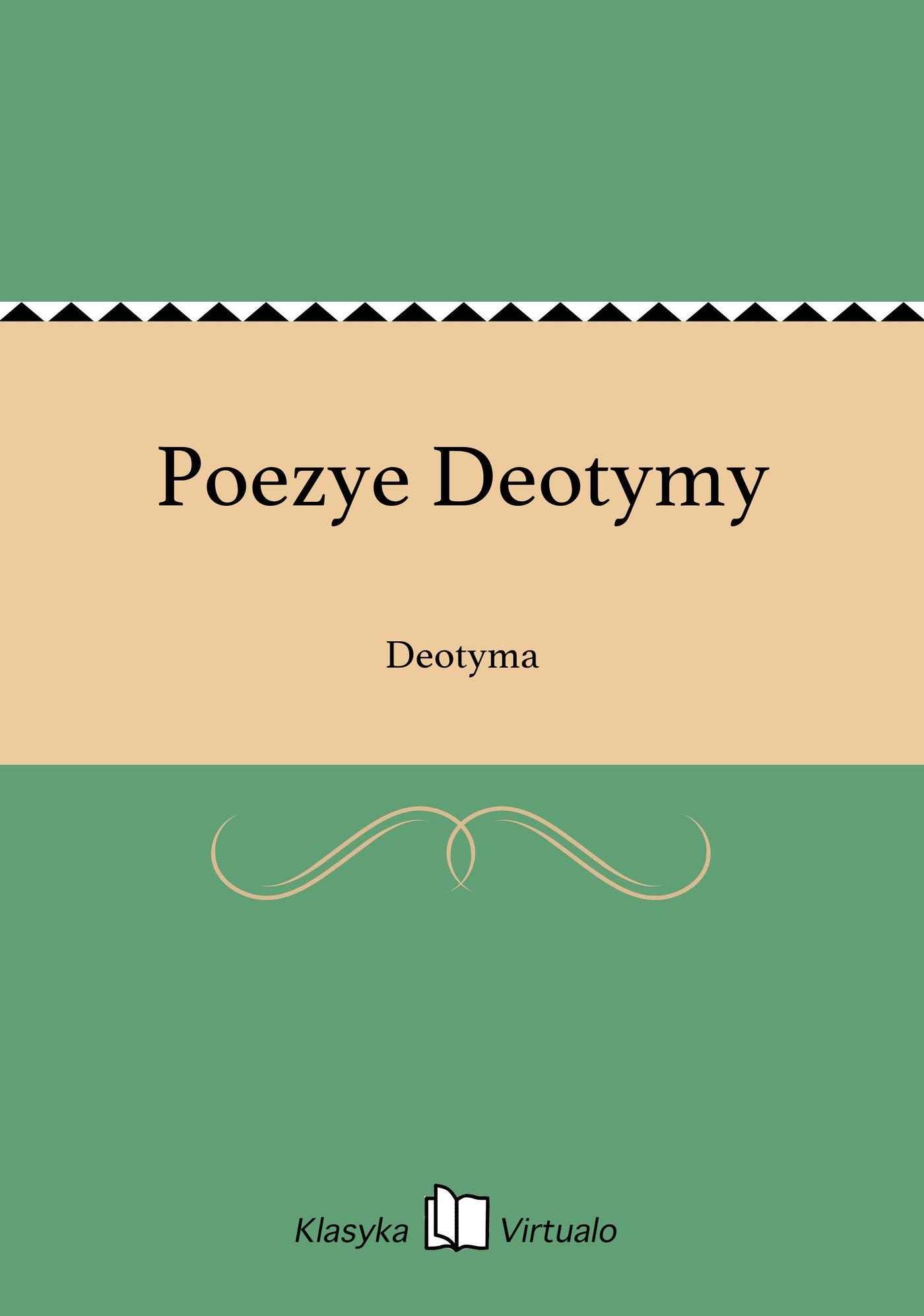 Poezye Deotymy - Ebook (Książka EPUB) do pobrania w formacie EPUB
