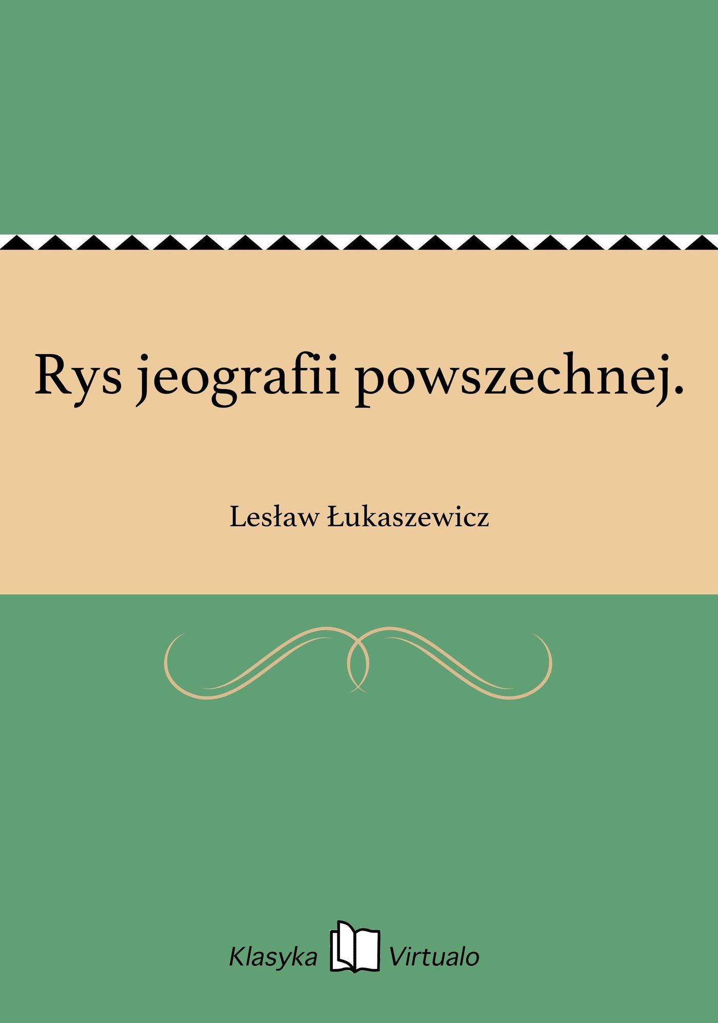 Rys jeografii powszechnej. - Ebook (Książka EPUB) do pobrania w formacie EPUB