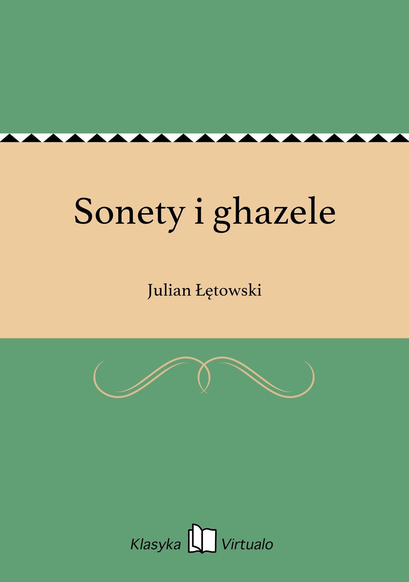 Sonety i ghazele - Ebook (Książka EPUB) do pobrania w formacie EPUB