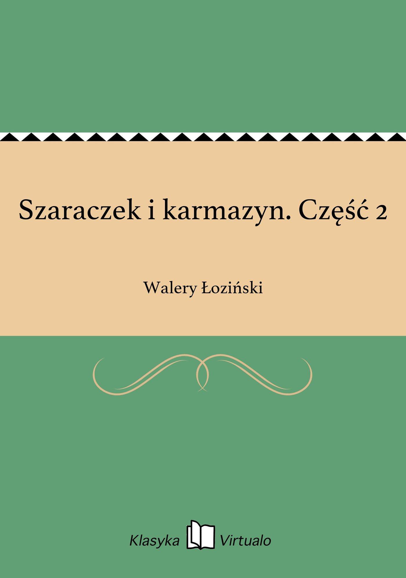 Szaraczek i karmazyn. Część 2 - Ebook (Książka EPUB) do pobrania w formacie EPUB