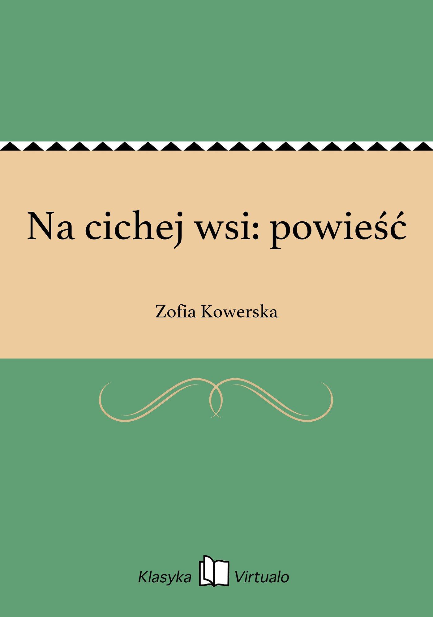 Na cichej wsi: powieść - Ebook (Książka EPUB) do pobrania w formacie EPUB