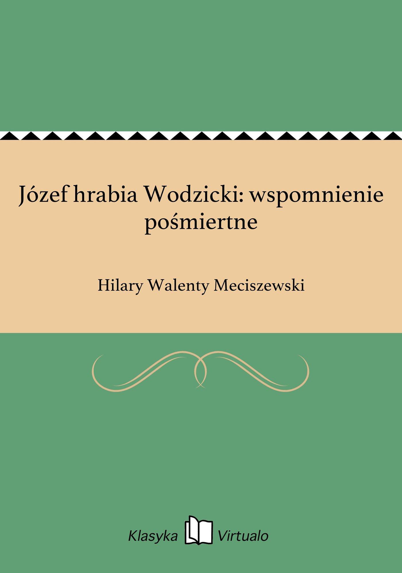 Józef hrabia Wodzicki: wspomnienie pośmiertne - Ebook (Książka EPUB) do pobrania w formacie EPUB