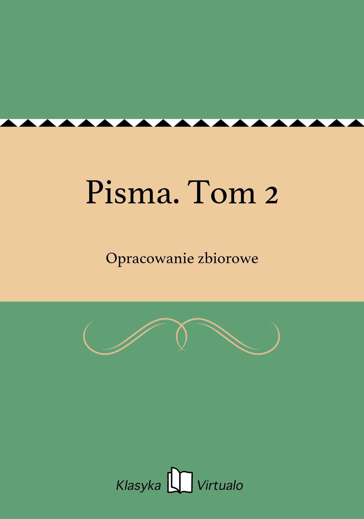 Pisma. Tom 2 - Ebook (Książka EPUB) do pobrania w formacie EPUB