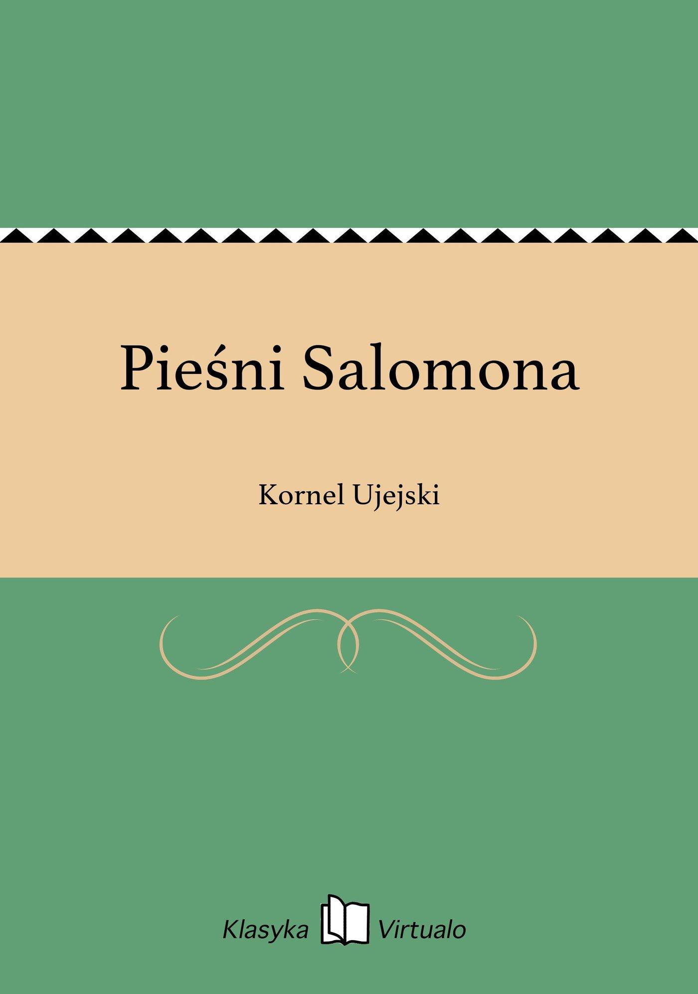 Pieśni Salomona - Ebook (Książka EPUB) do pobrania w formacie EPUB