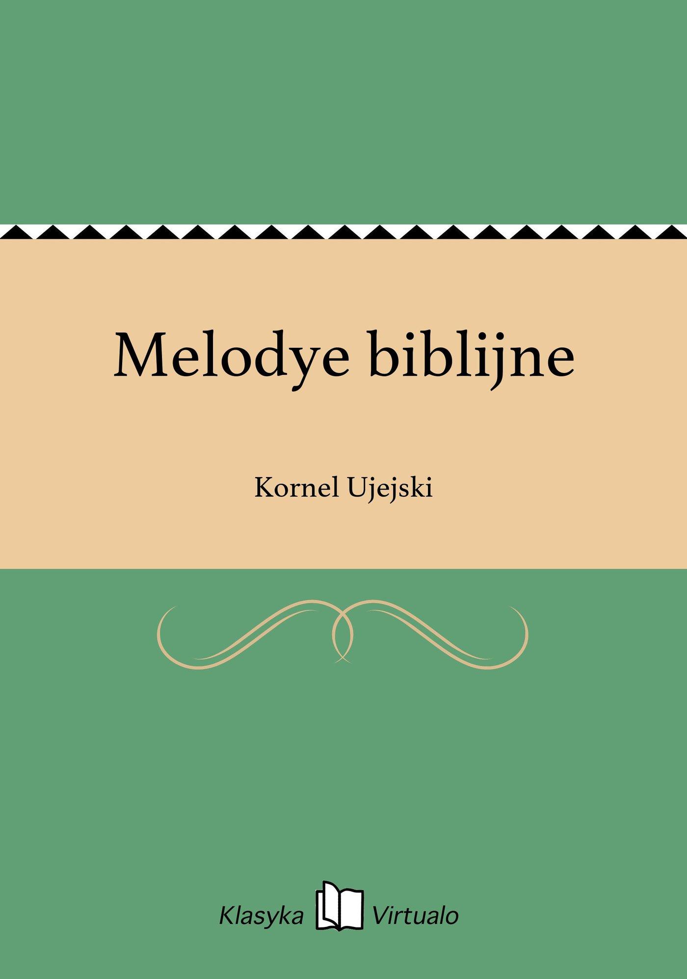 Melodye biblijne - Ebook (Książka EPUB) do pobrania w formacie EPUB
