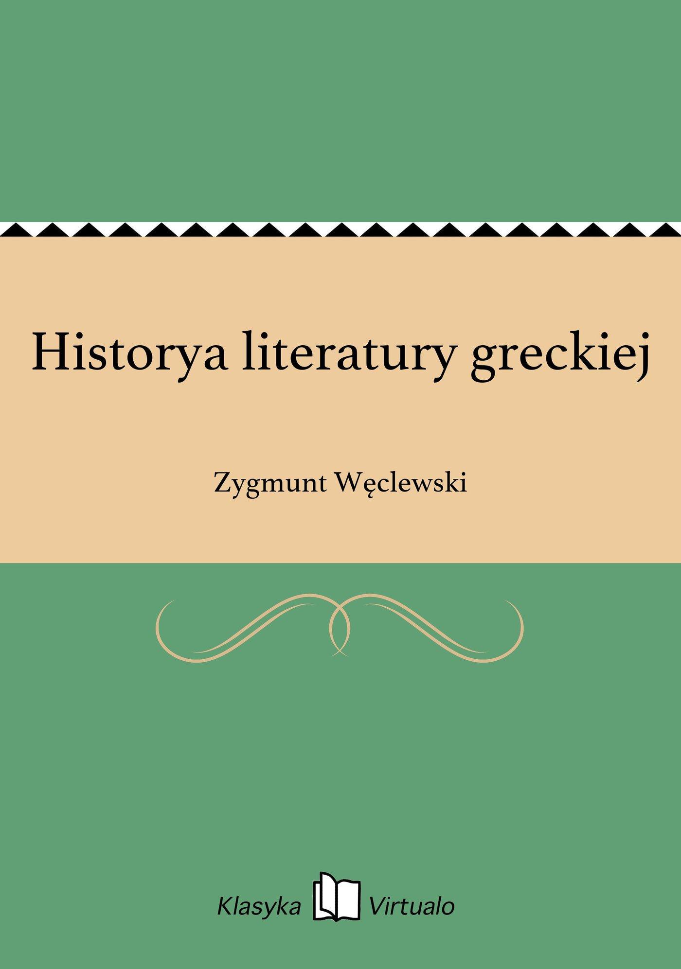 Historya literatury greckiej - Ebook (Książka EPUB) do pobrania w formacie EPUB