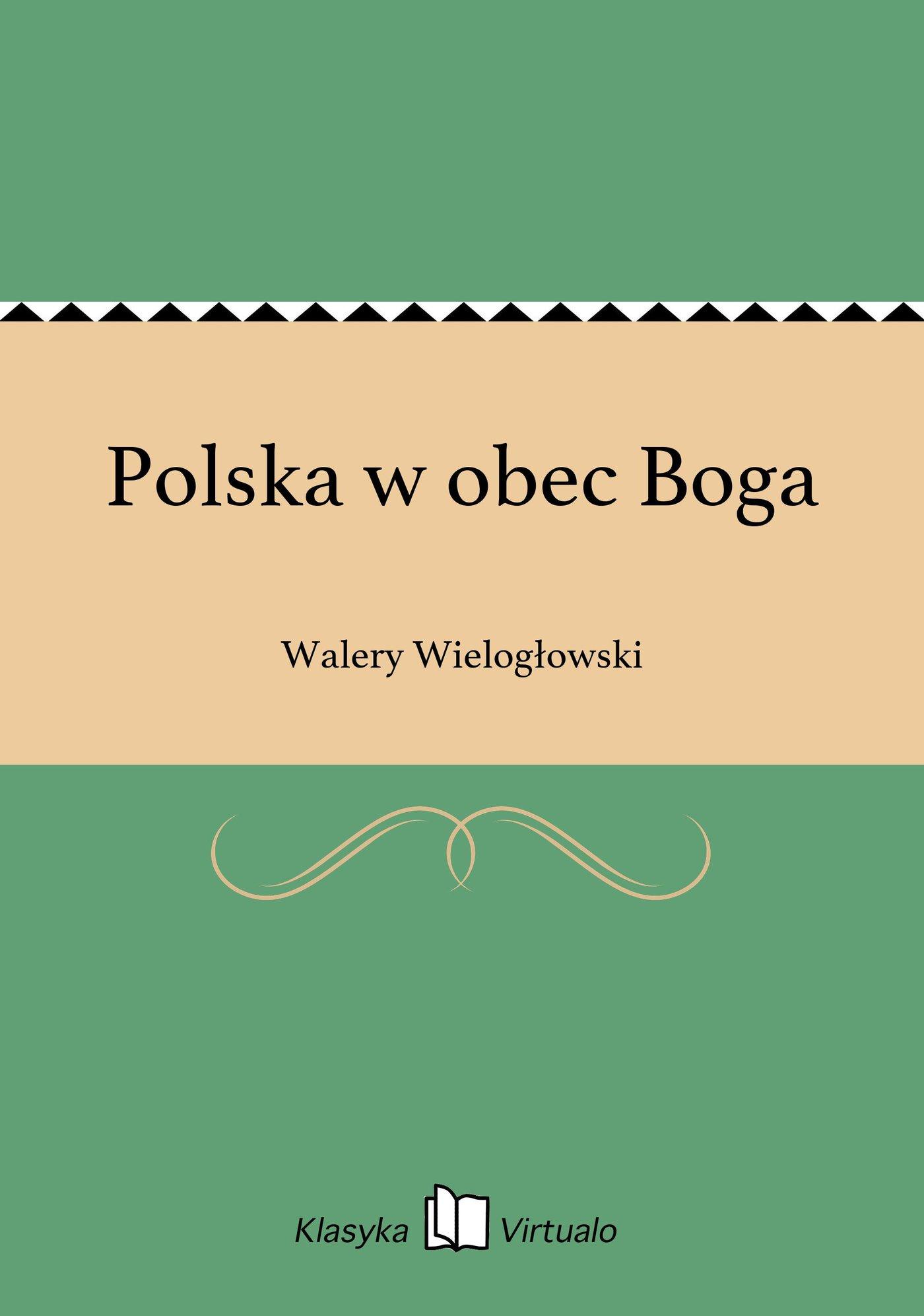 Polska w obec Boga - Ebook (Książka EPUB) do pobrania w formacie EPUB