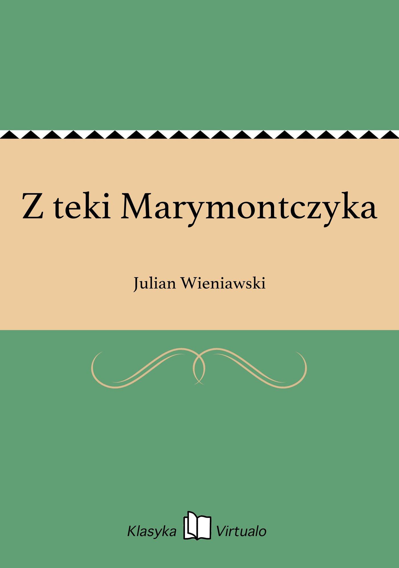 Z teki Marymontczyka - Ebook (Książka EPUB) do pobrania w formacie EPUB