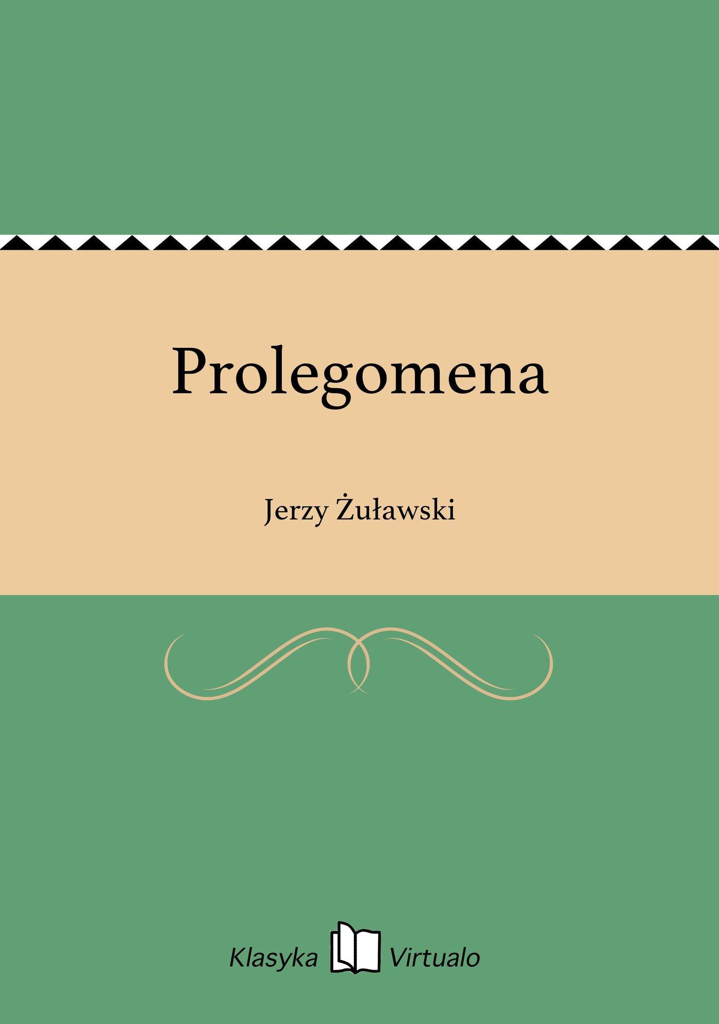 Prolegomena - Ebook (Książka EPUB) do pobrania w formacie EPUB