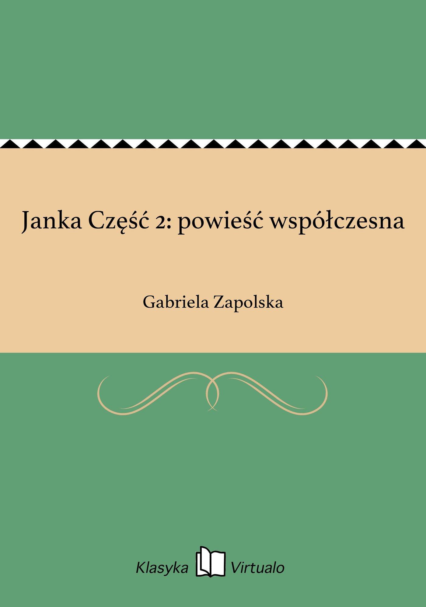Janka Część 2: powieść współczesna - Ebook (Książka EPUB) do pobrania w formacie EPUB