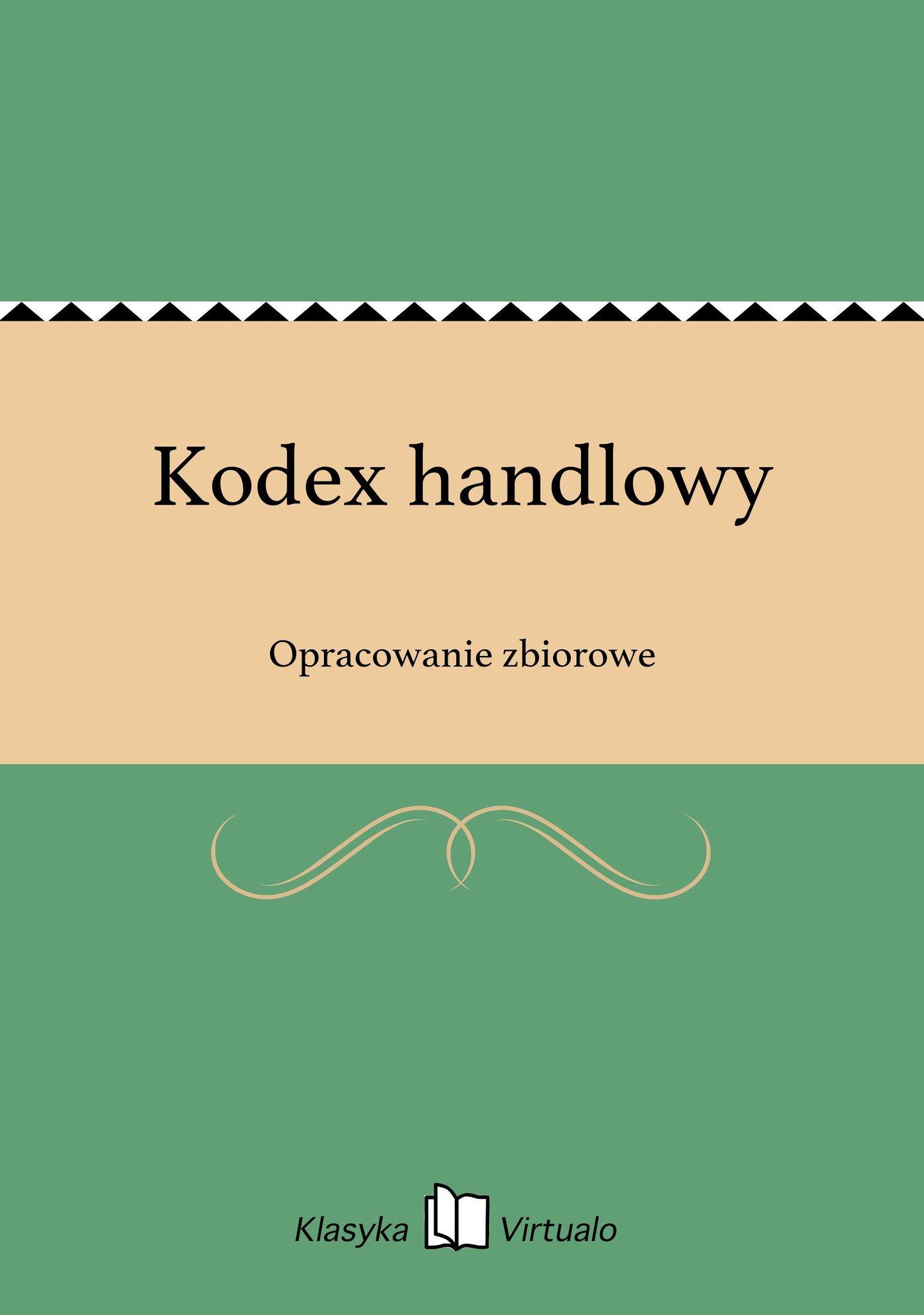 Kodex handlowy - Ebook (Książka EPUB) do pobrania w formacie EPUB