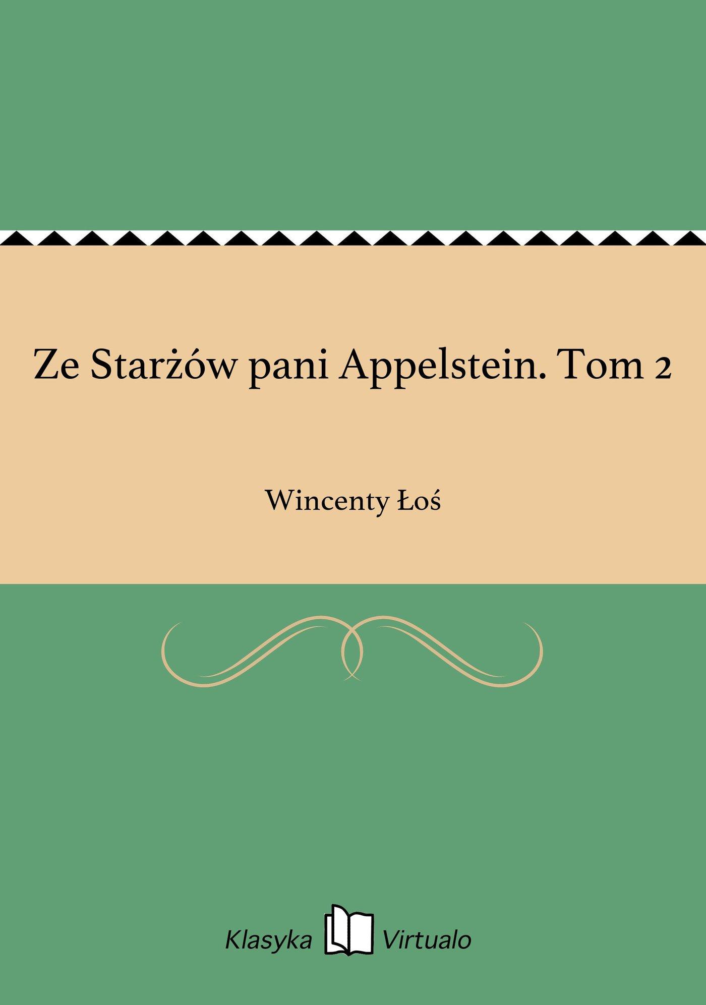Ze Starżów pani Appelstein. Tom 2 - Ebook (Książka EPUB) do pobrania w formacie EPUB
