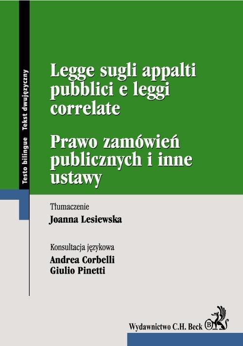 Prawo zamówień publicznych. Legge sugli appalti pubblici e leggi correlate - Ebook (Książka PDF) do pobrania w formacie PDF