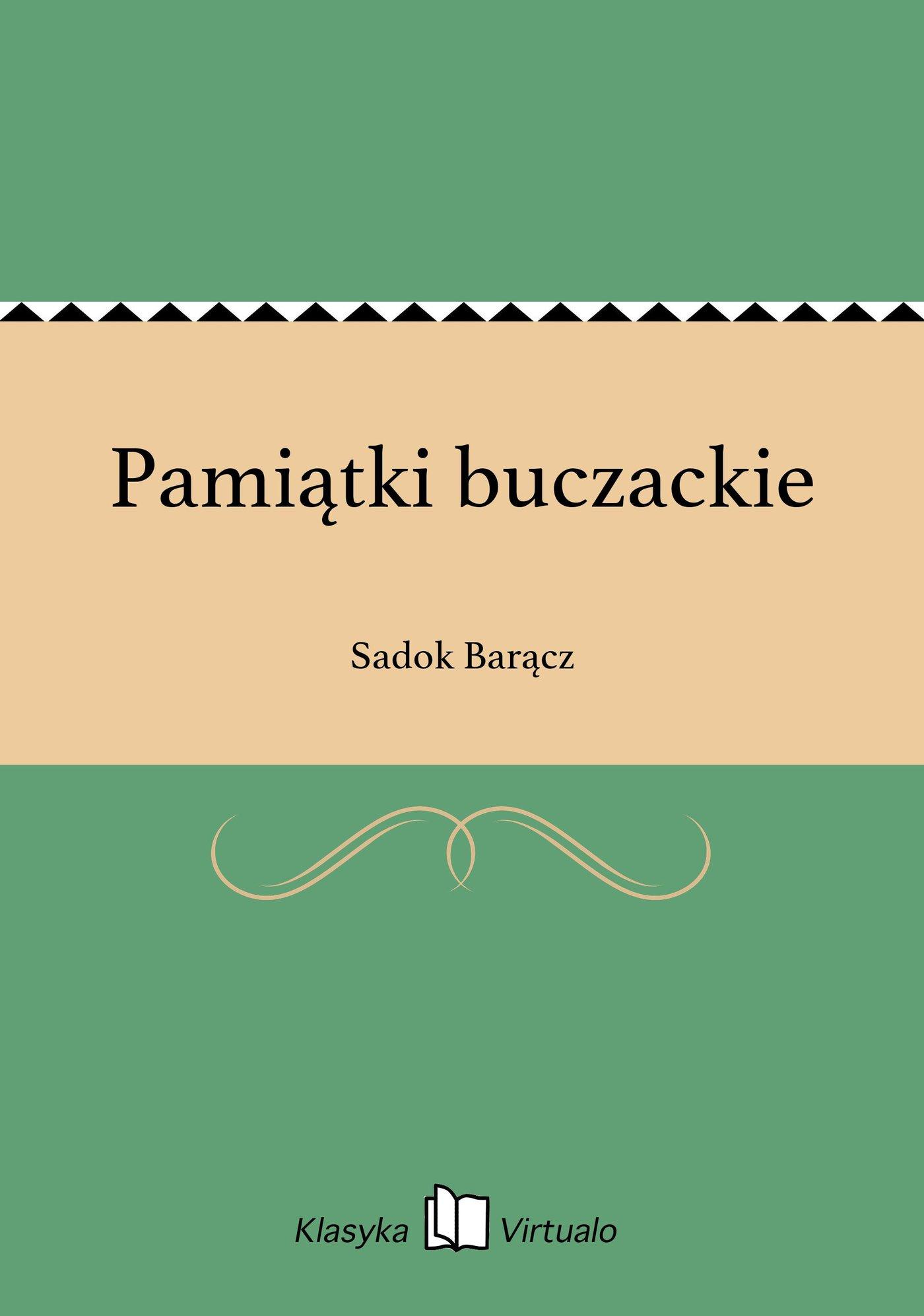 Pamiątki buczackie - Ebook (Książka na Kindle) do pobrania w formacie MOBI