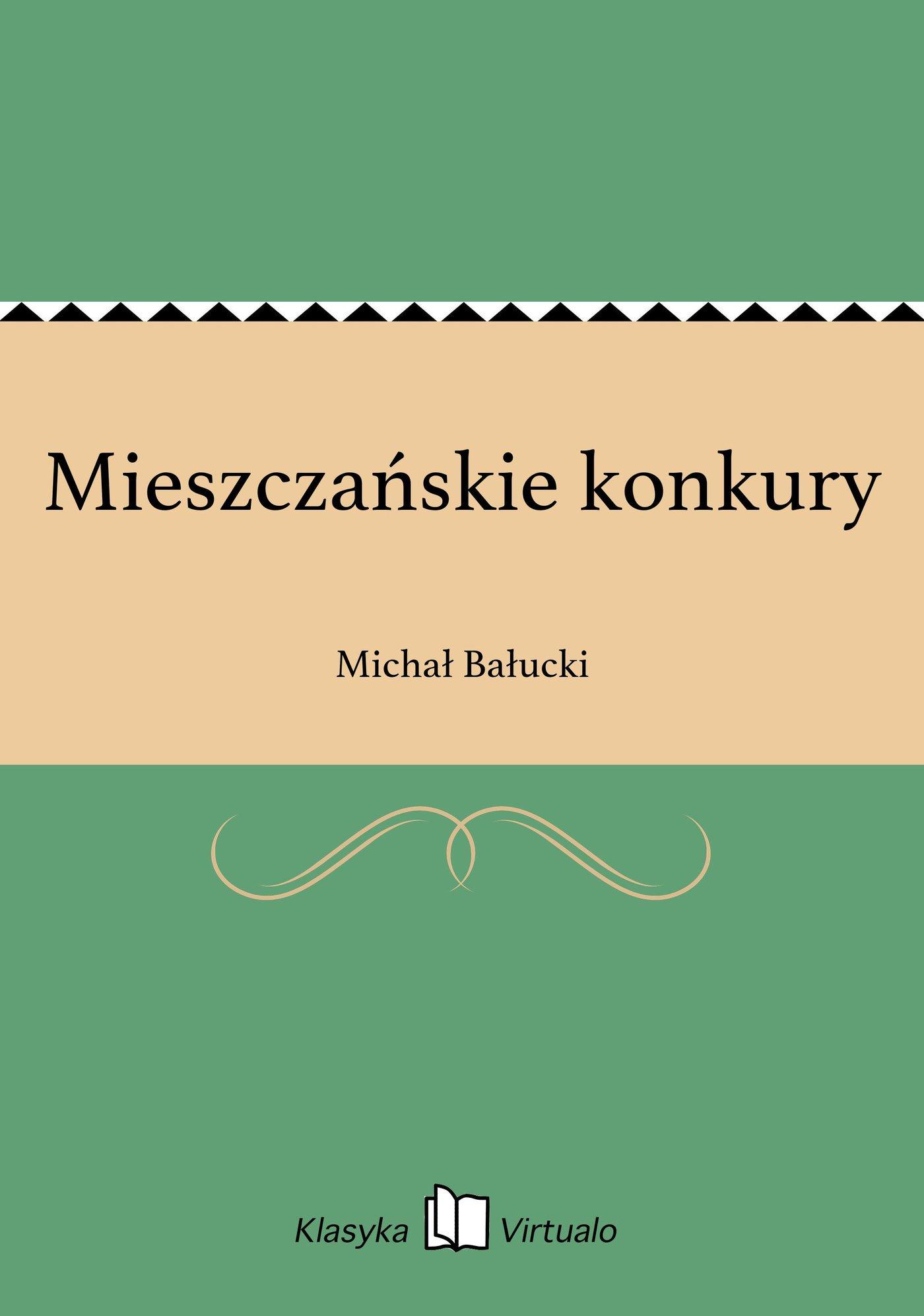 Mieszczańskie konkury - Ebook (Książka na Kindle) do pobrania w formacie MOBI