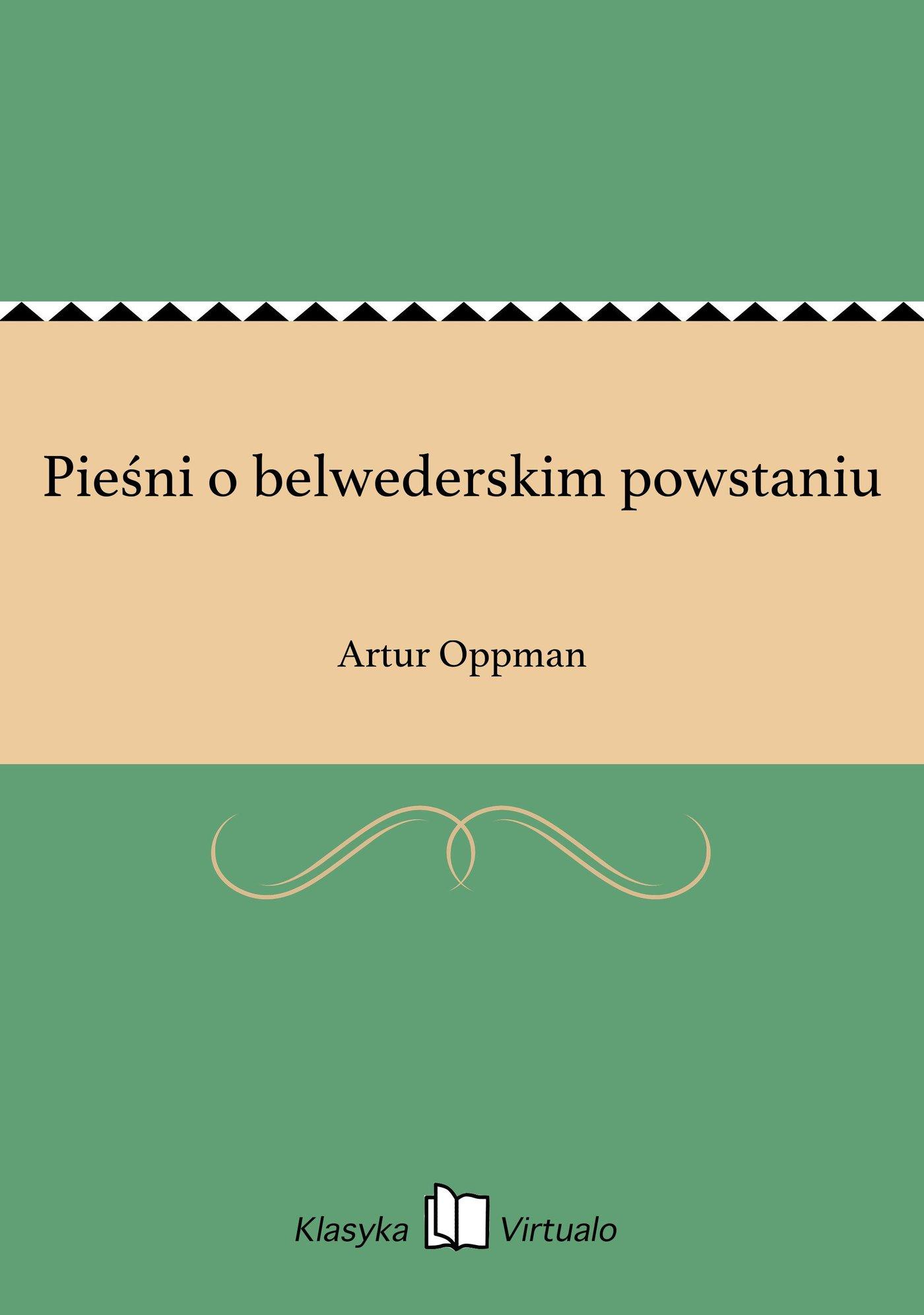 Pieśni o belwederskim powstaniu - Ebook (Książka na Kindle) do pobrania w formacie MOBI