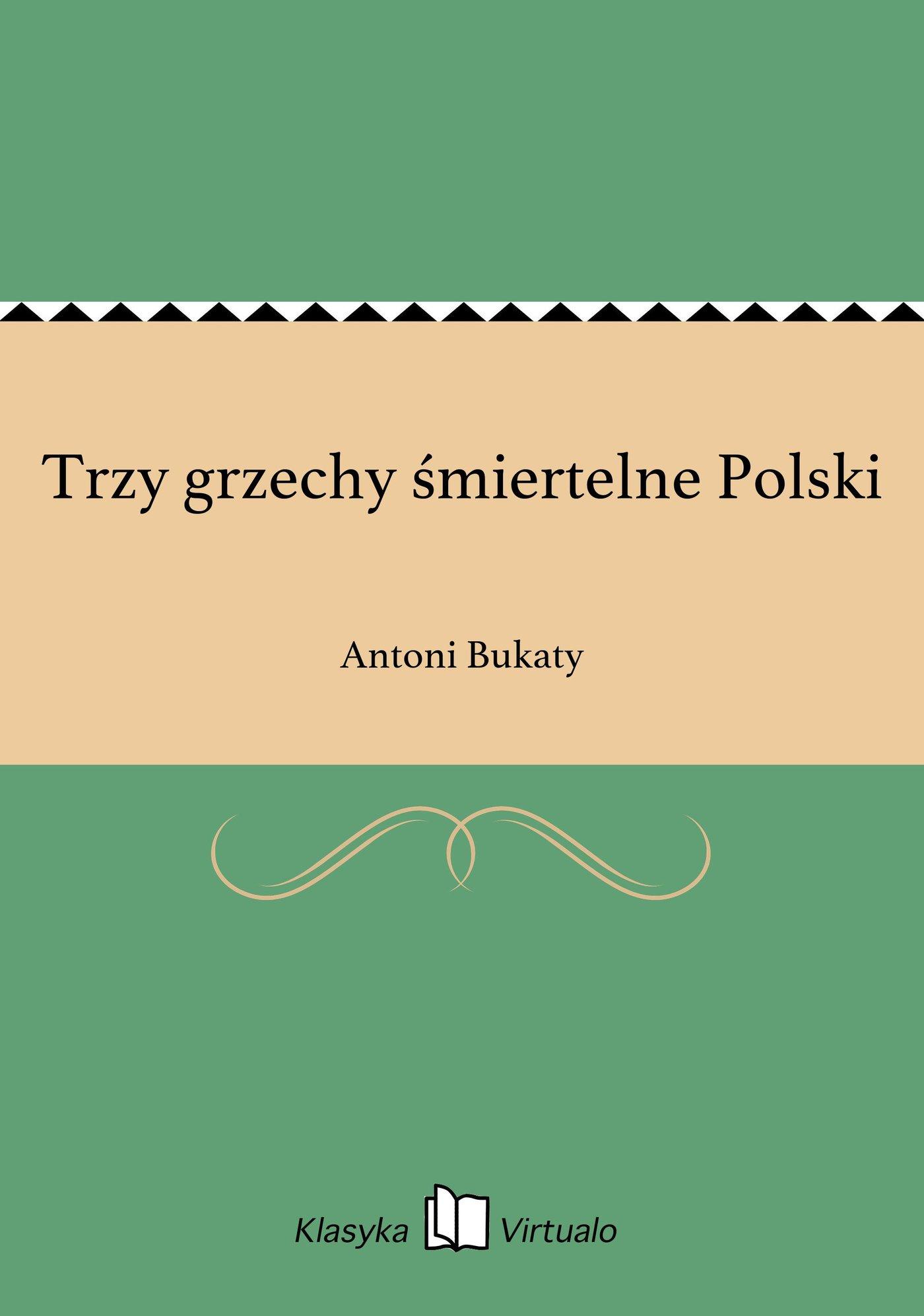 Trzy grzechy śmiertelne Polski - Ebook (Książka na Kindle) do pobrania w formacie MOBI
