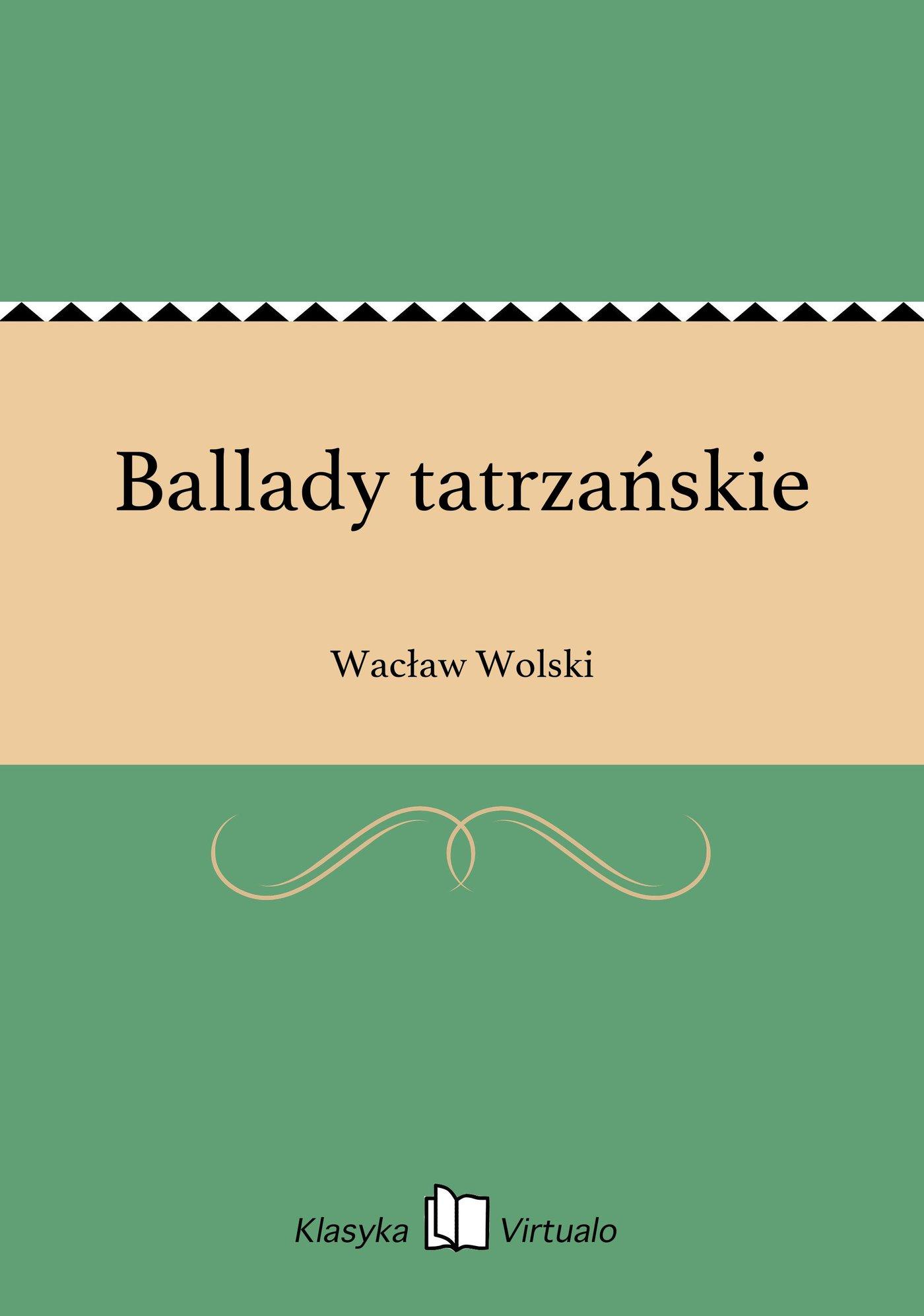 Ballady tatrzańskie - Ebook (Książka na Kindle) do pobrania w formacie MOBI