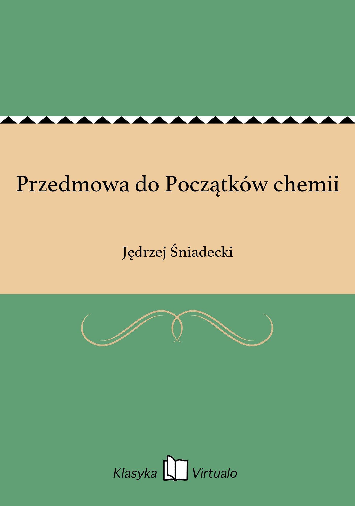 Przedmowa do Początków chemii - Ebook (Książka na Kindle) do pobrania w formacie MOBI