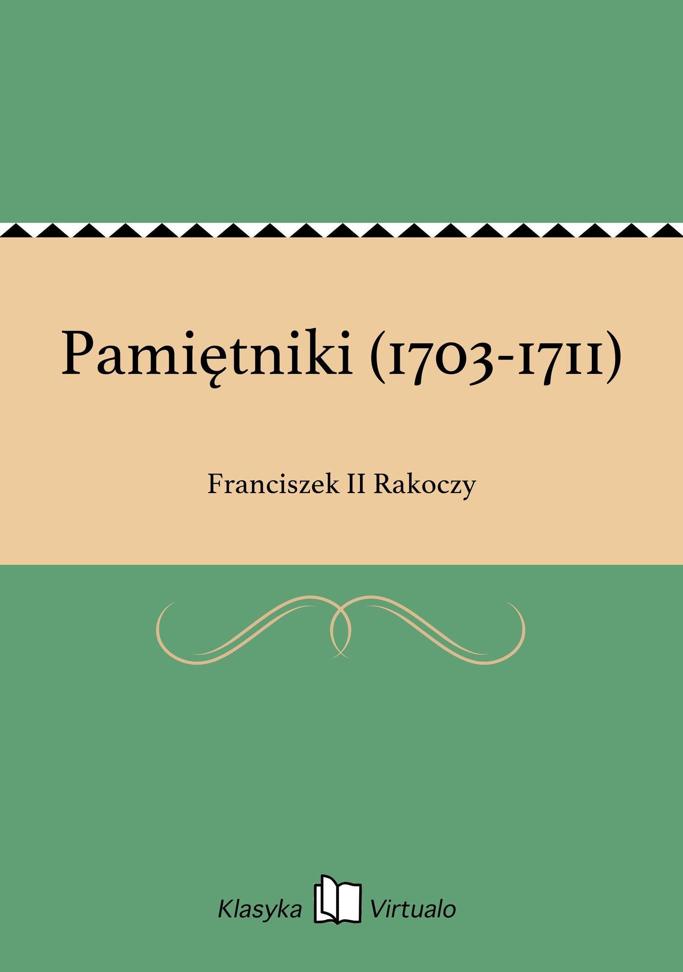 Pamiętniki (1703-1711) - Ebook (Książka na Kindle) do pobrania w formacie MOBI