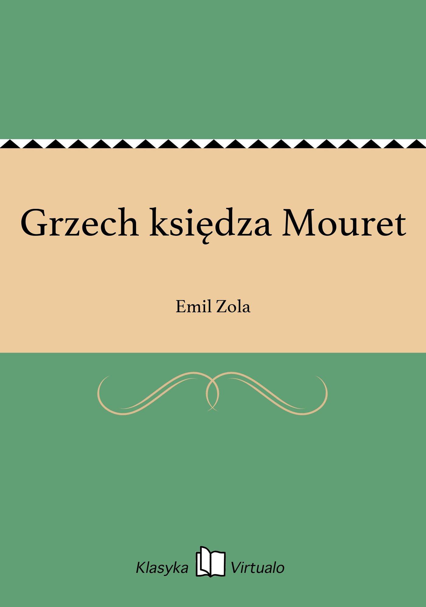 Grzech księdza Mouret - Ebook (Książka na Kindle) do pobrania w formacie MOBI