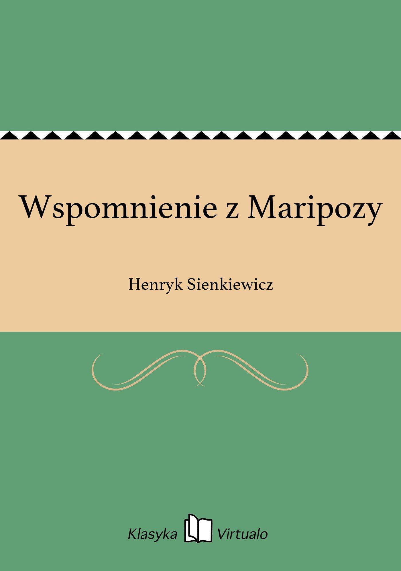 Wspomnienie z Maripozy - Ebook (Książka na Kindle) do pobrania w formacie MOBI