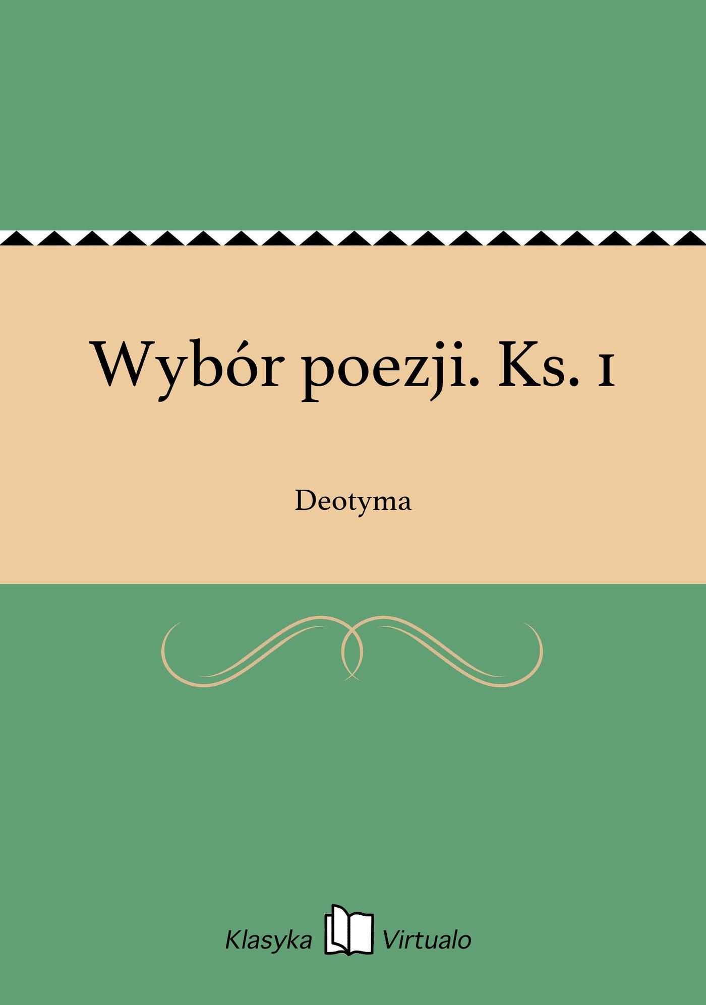 Wybór poezji. Ks. 1 - Ebook (Książka na Kindle) do pobrania w formacie MOBI