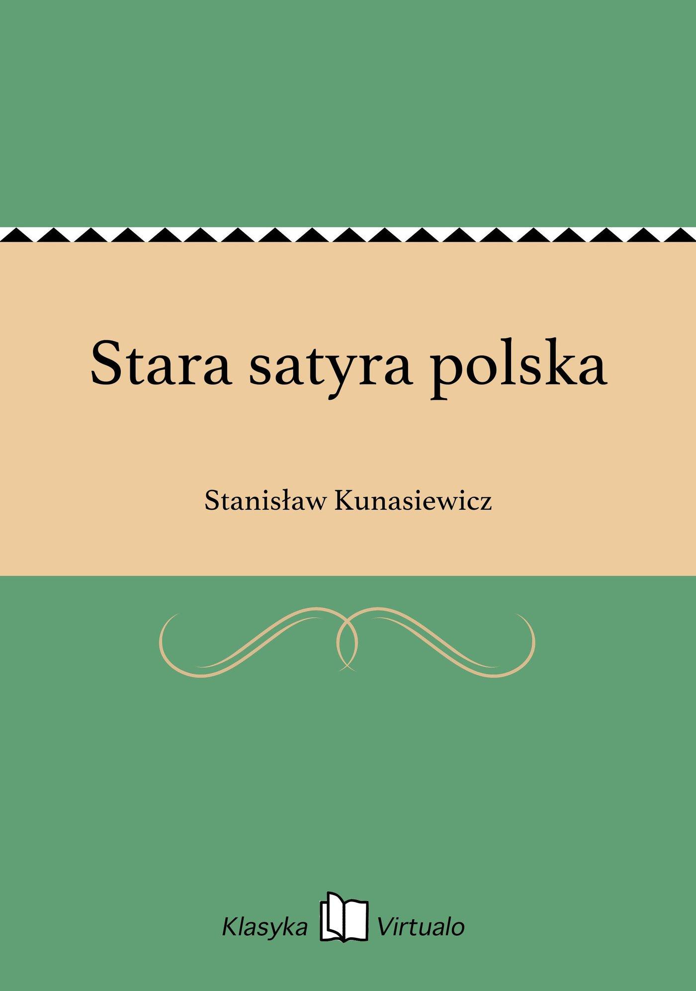 Stara satyra polska - Ebook (Książka na Kindle) do pobrania w formacie MOBI