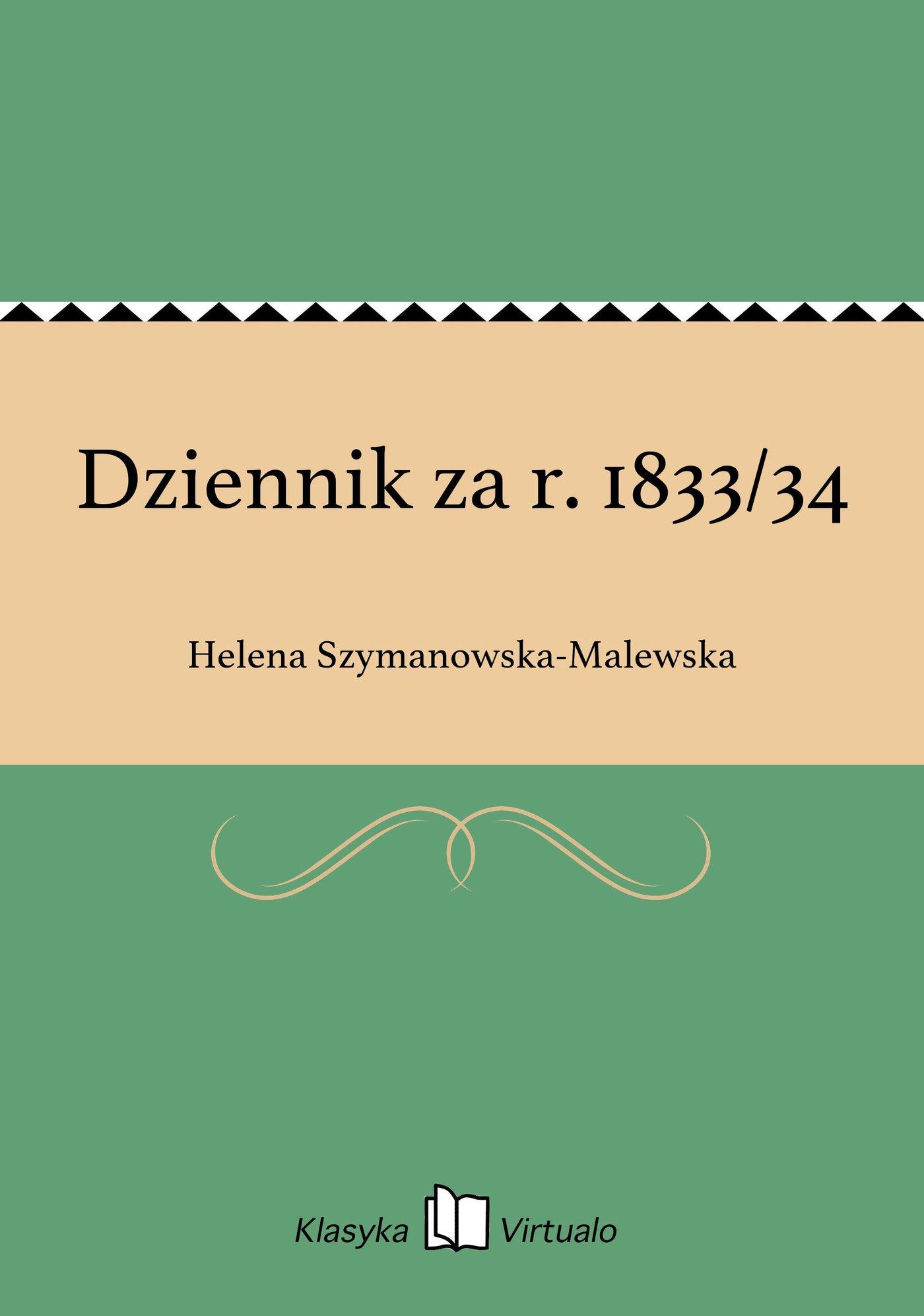 Dziennik za r. 1833/34 - Ebook (Książka na Kindle) do pobrania w formacie MOBI