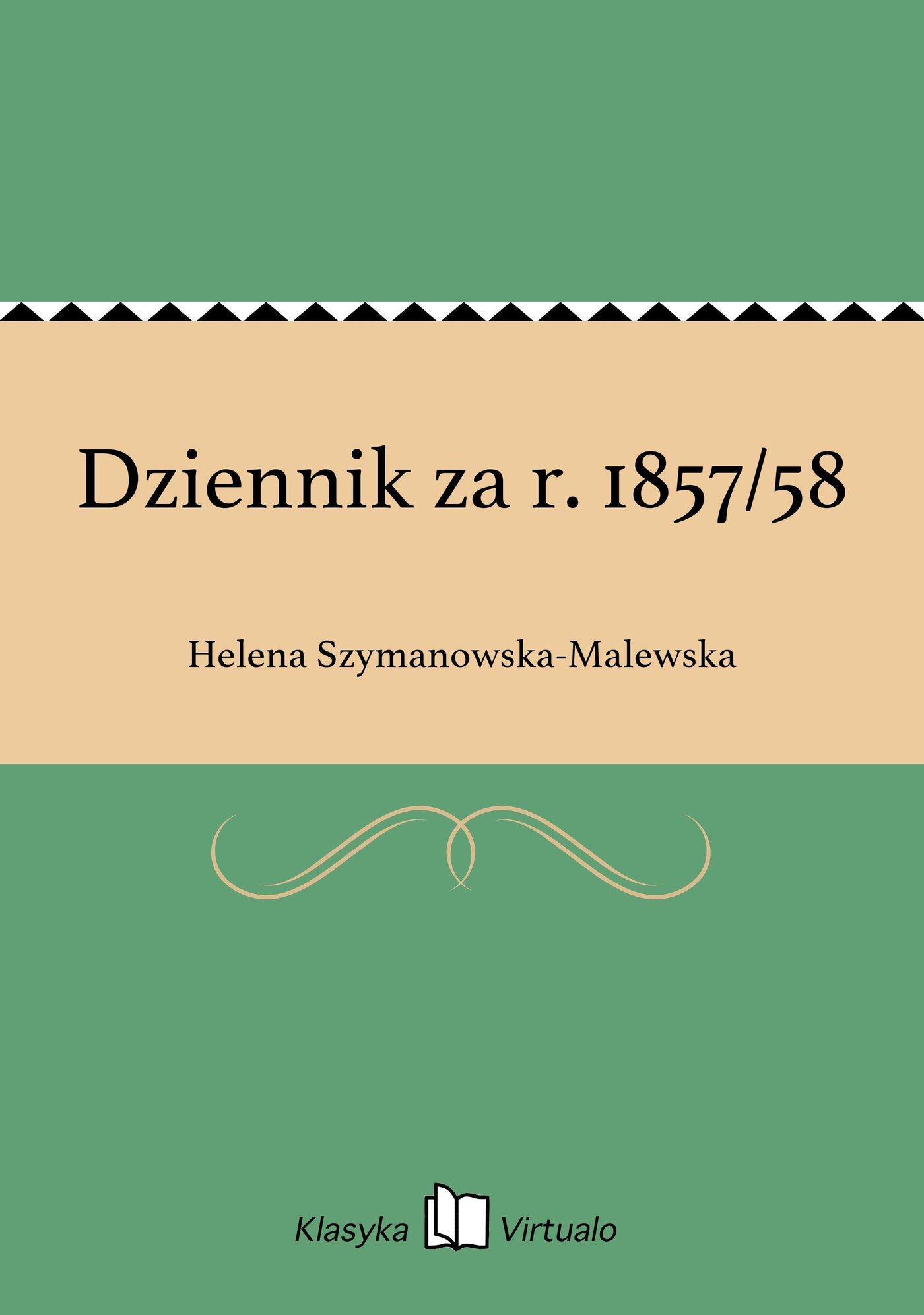 Dziennik za r. 1857/58 - Ebook (Książka na Kindle) do pobrania w formacie MOBI