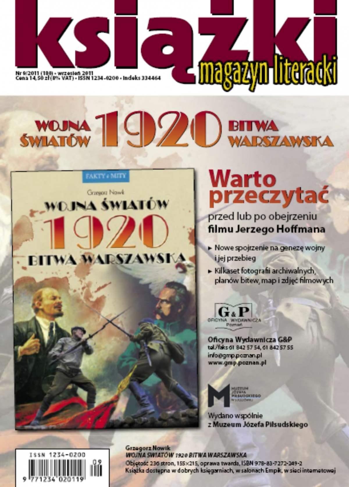 Magazyn Literacki KSIĄŻKI - nr 9/2011 (180) - Ebook (Książka PDF) do pobrania w formacie PDF