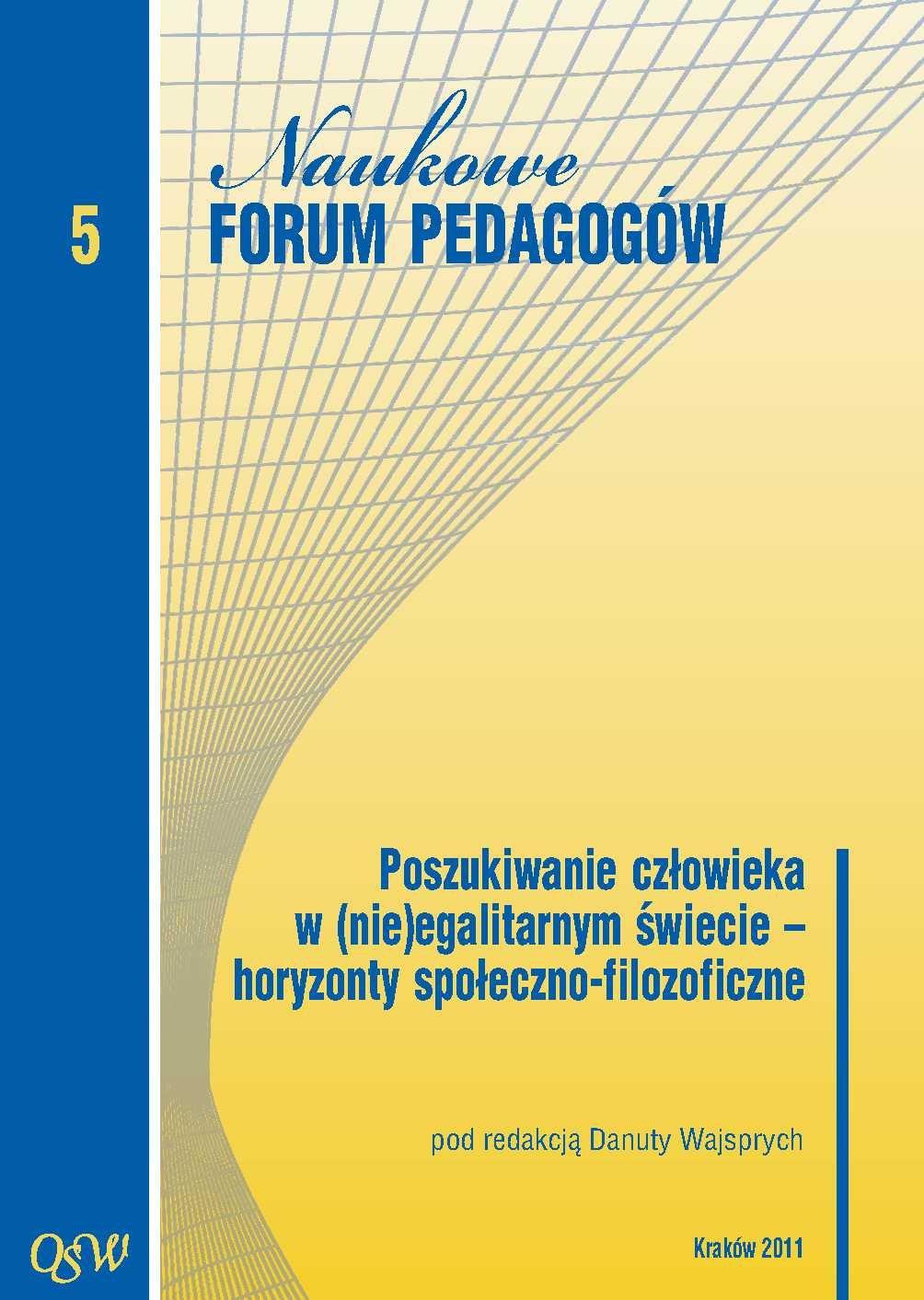 Poszukiwanie człowieka w (nie)egalitarnym świecie – horyzonty społeczno-filozoficzne - Ebook (Książka PDF) do pobrania w formacie PDF