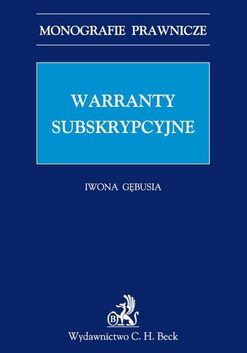 Warranty subskrypcyjne - Ebook (Książka PDF) do pobrania w formacie PDF