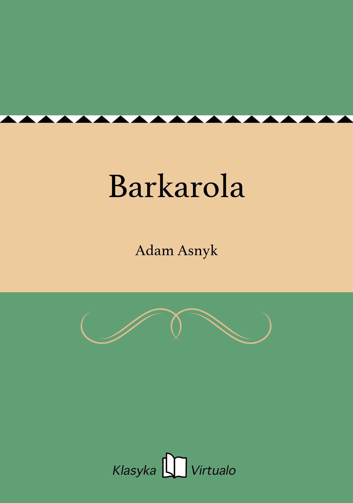 Barkarola - Ebook (Książka EPUB) do pobrania w formacie EPUB