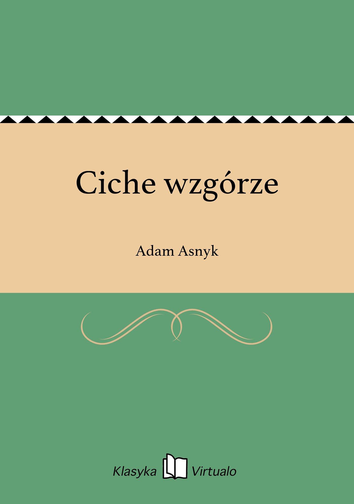 Ciche wzgórze - Ebook (Książka EPUB) do pobrania w formacie EPUB