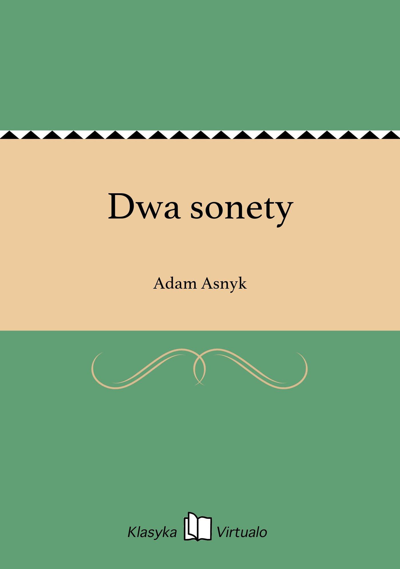 Dwa sonety - Ebook (Książka EPUB) do pobrania w formacie EPUB