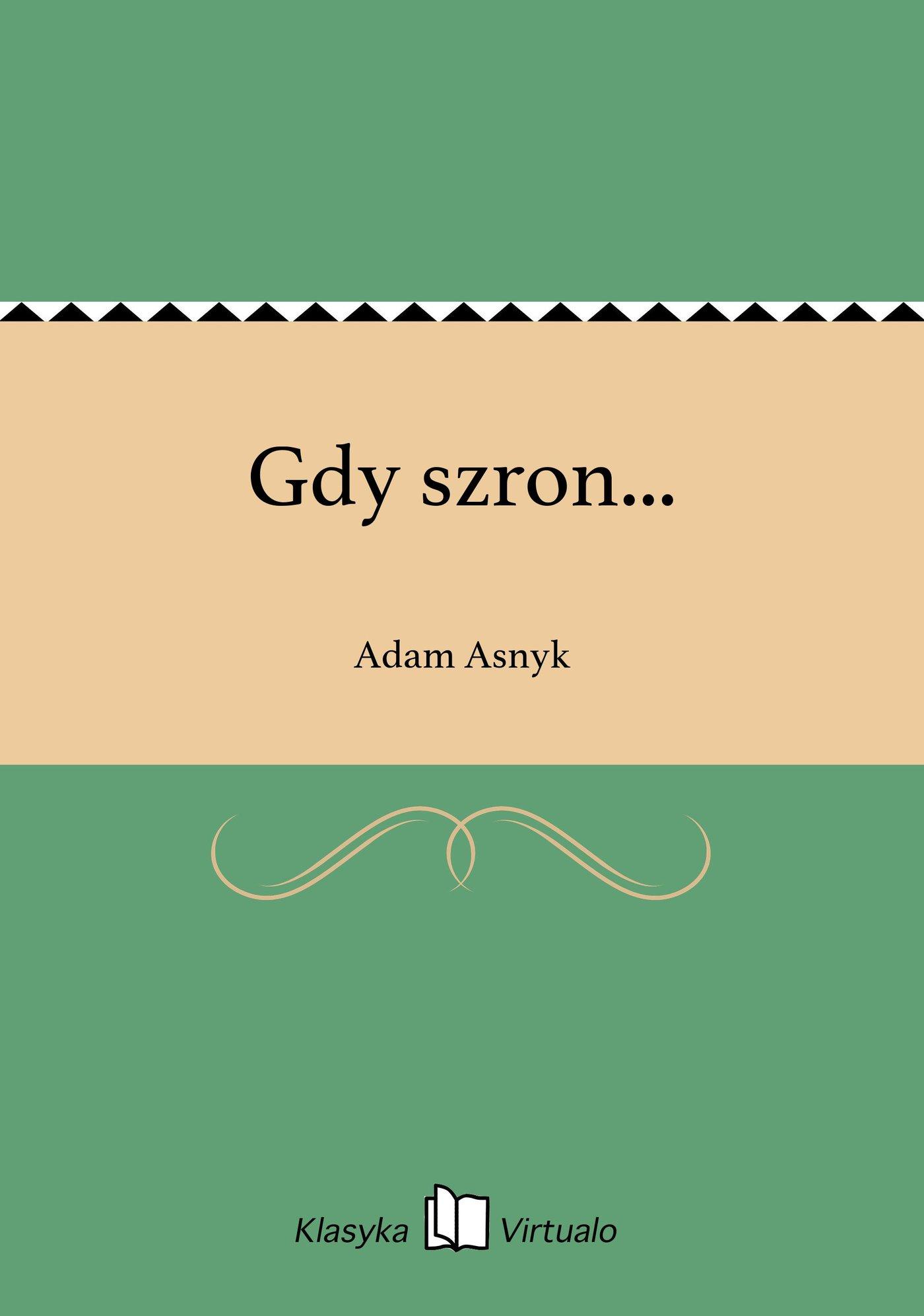 Gdy szron... - Ebook (Książka EPUB) do pobrania w formacie EPUB