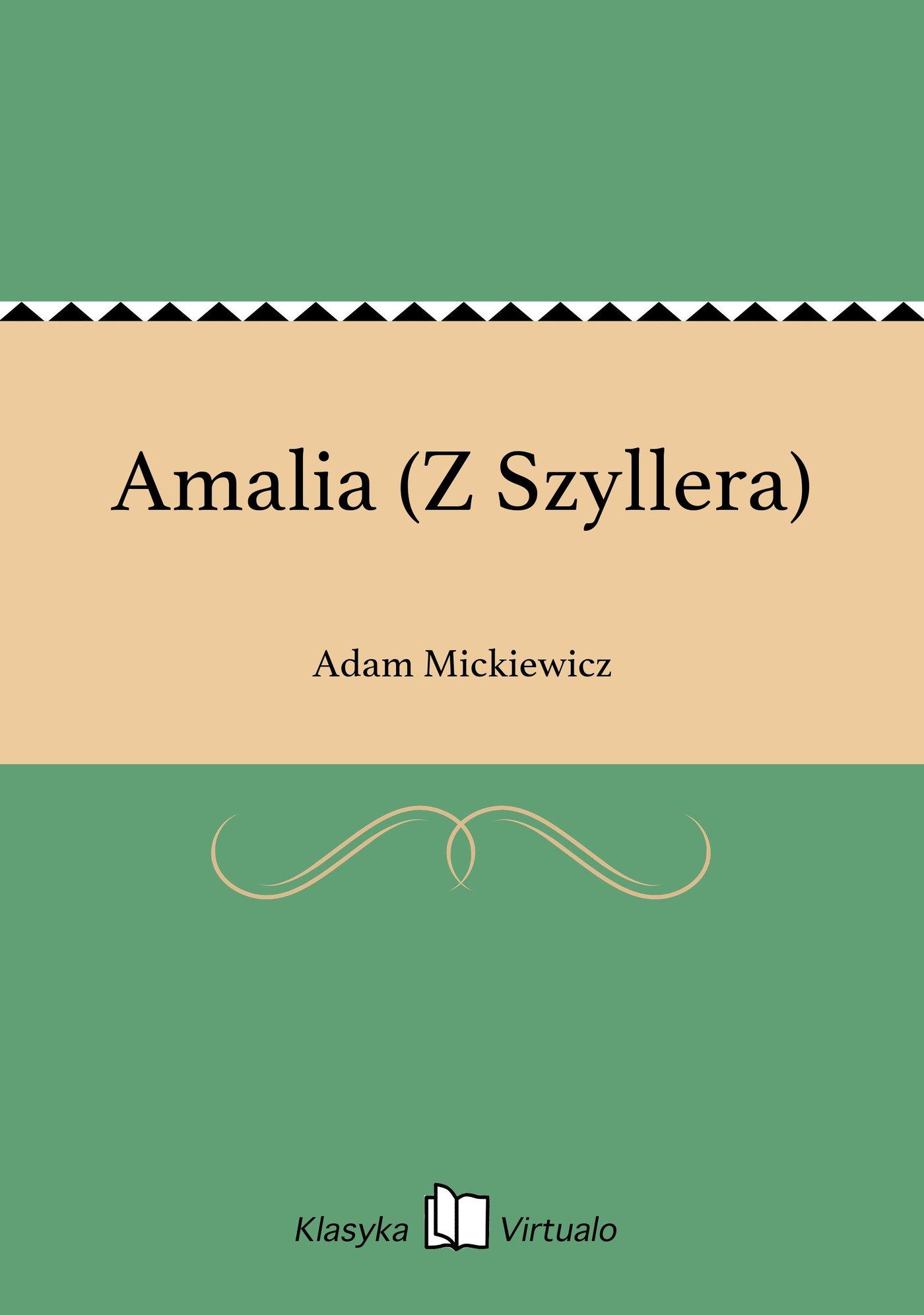 Amalia (Z Szyllera) - Ebook (Książka EPUB) do pobrania w formacie EPUB