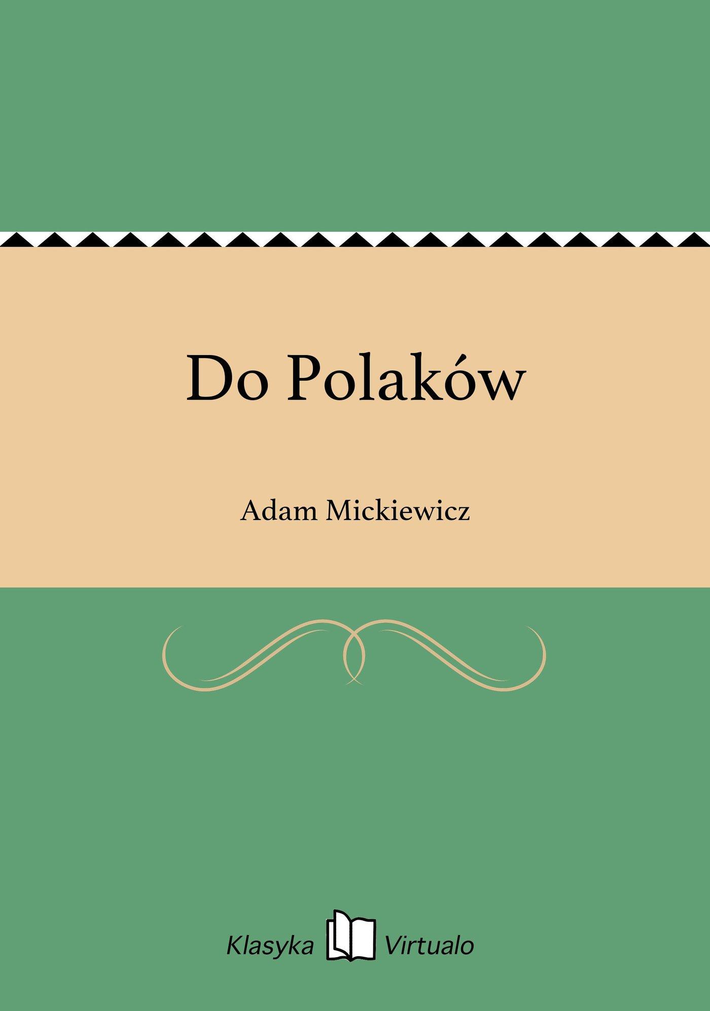 Do Polaków - Ebook (Książka EPUB) do pobrania w formacie EPUB