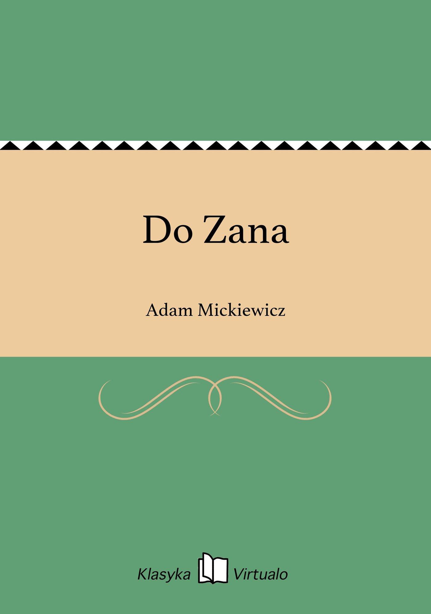 Do Zana - Ebook (Książka EPUB) do pobrania w formacie EPUB