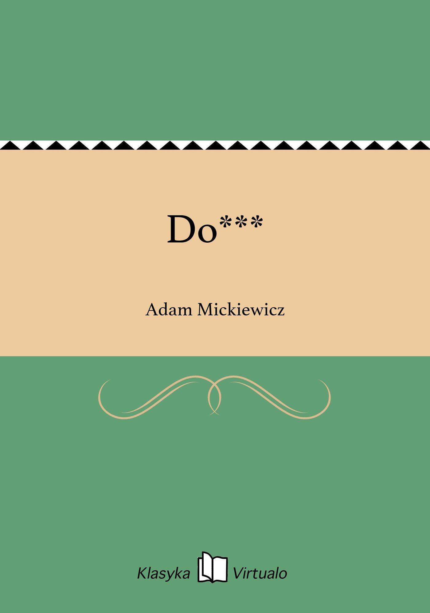 Do*** - Ebook (Książka EPUB) do pobrania w formacie EPUB