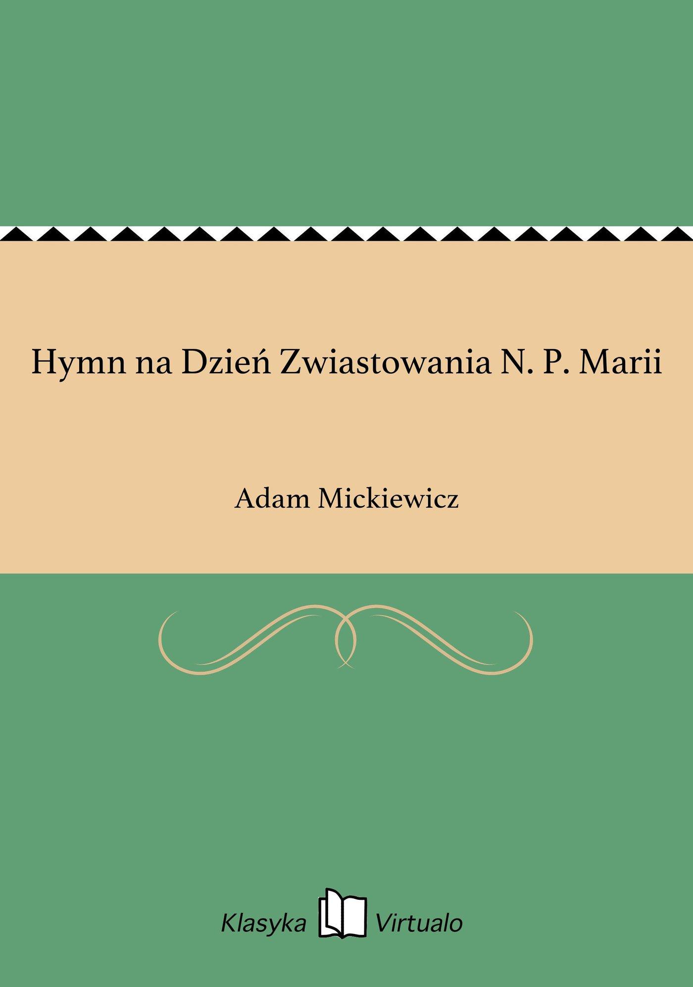 Hymn na Dzień Zwiastowania N. P. Marii - Ebook (Książka EPUB) do pobrania w formacie EPUB